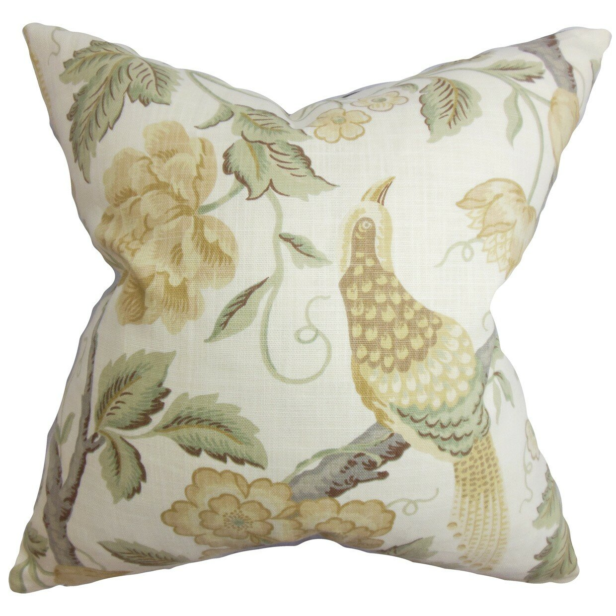 The Pillow Collection Iselin Floral Cotton Throw Pillow