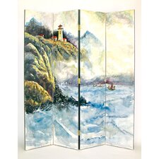 72 x 64 High Seas 4 Panel Room Divider by Wayborn