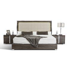 Uma California King Upholstered Platform Bed by Wade Logan