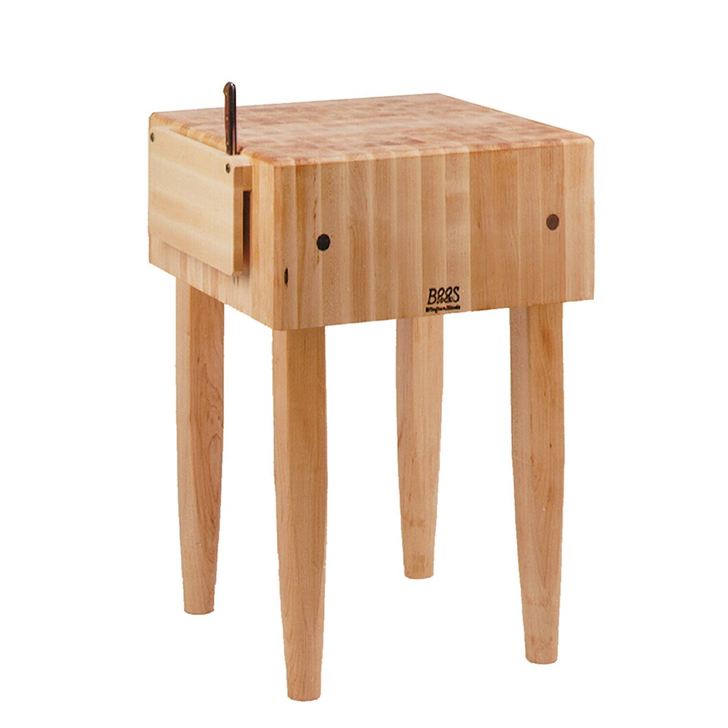 John boos pro chef butcher block prep table reviews for Table 180 x 85