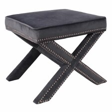 Marguerite Nailhead Stool by New Pacific Direct