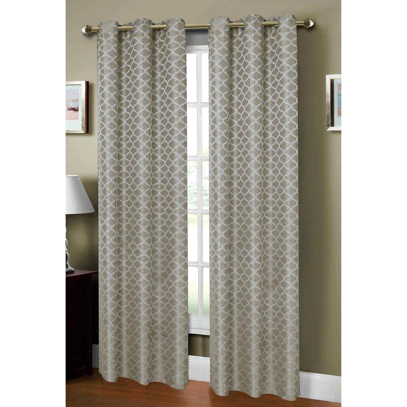 window elements sonata geometric sheer grommet curtain panels