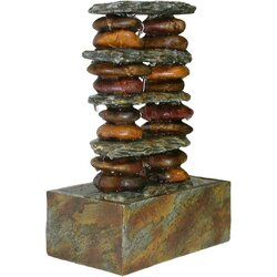 Eternity Resin Stacked Stone Tabletop Fountain