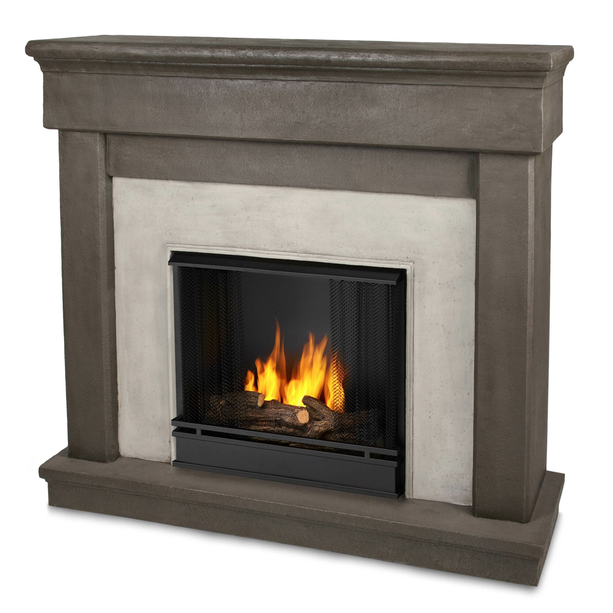 real flame cast mantel cascade wall mount gel fuel fireplace reviews wayfair. Black Bedroom Furniture Sets. Home Design Ideas