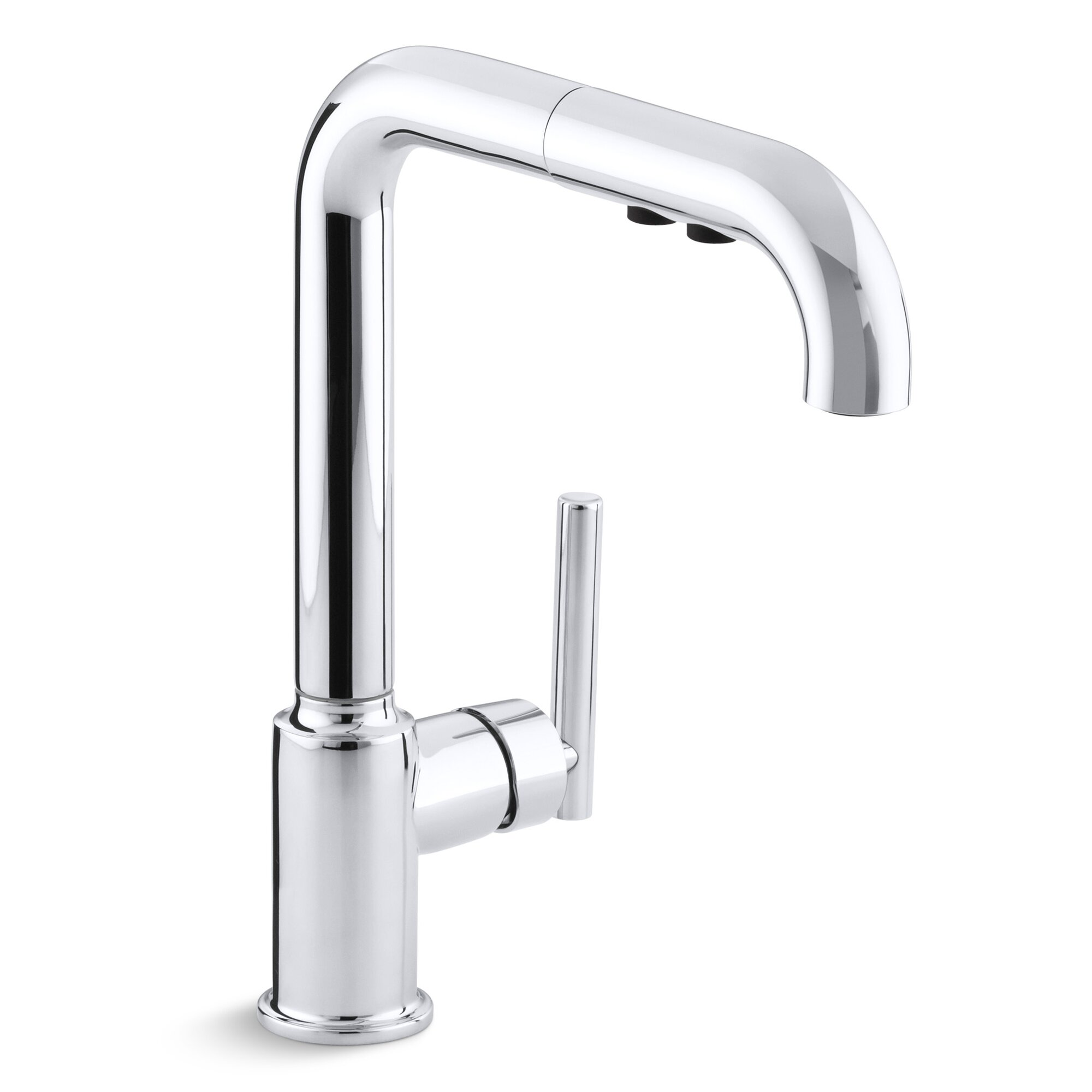 Purist Single Hole Kitchen Sink Faucet With  Pullout Spout