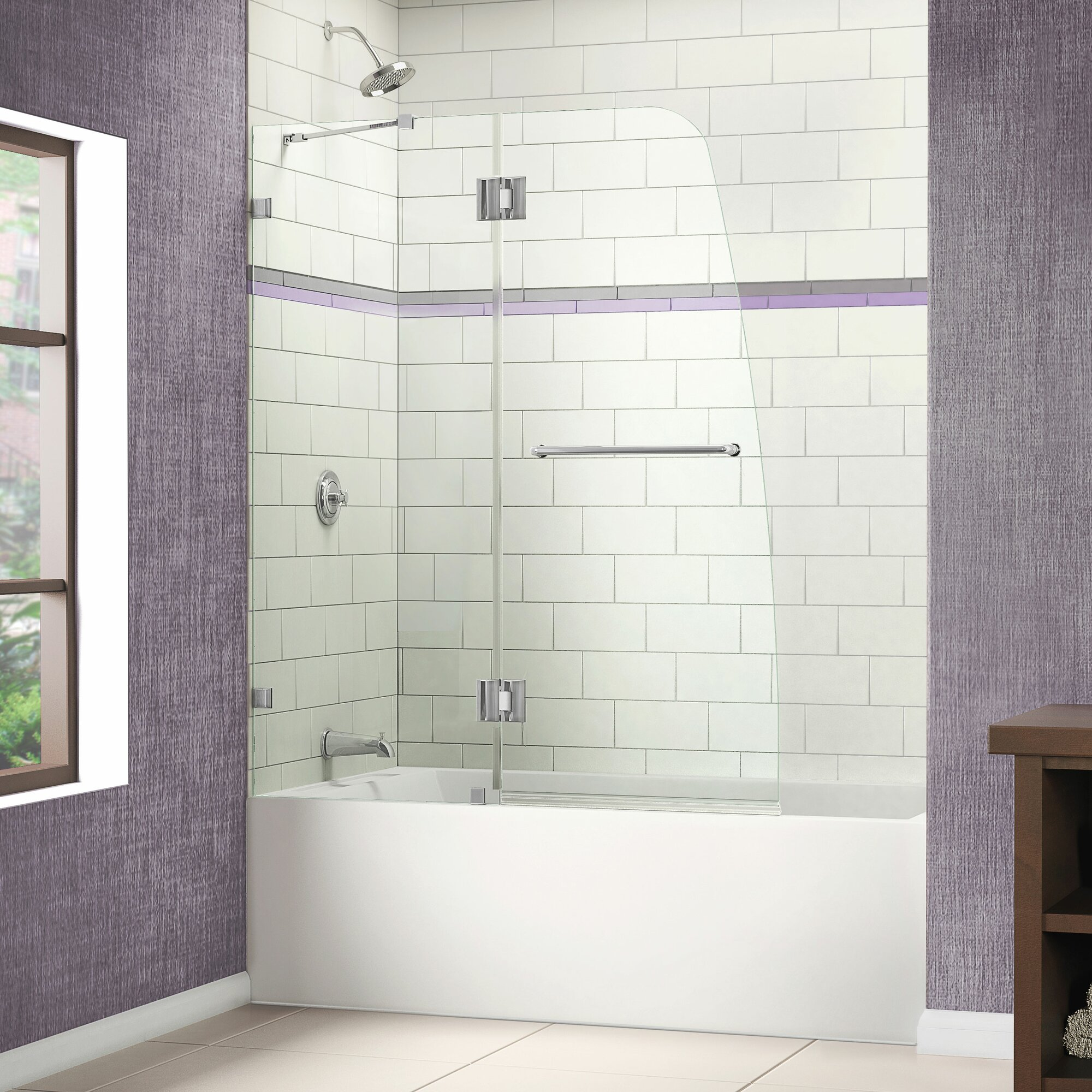 Dreamline Aqua Lux 48 Quot X 58 Quot Hinged Frameless Tub Door