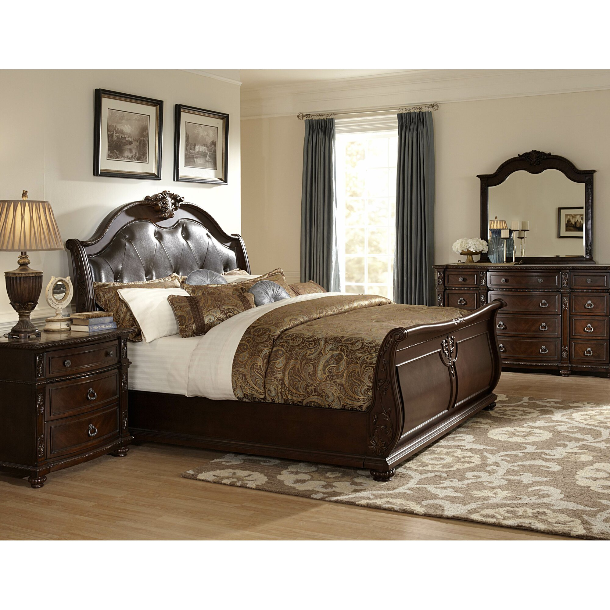 Hillcrest Manor Sleigh Customizable Bedroom Set