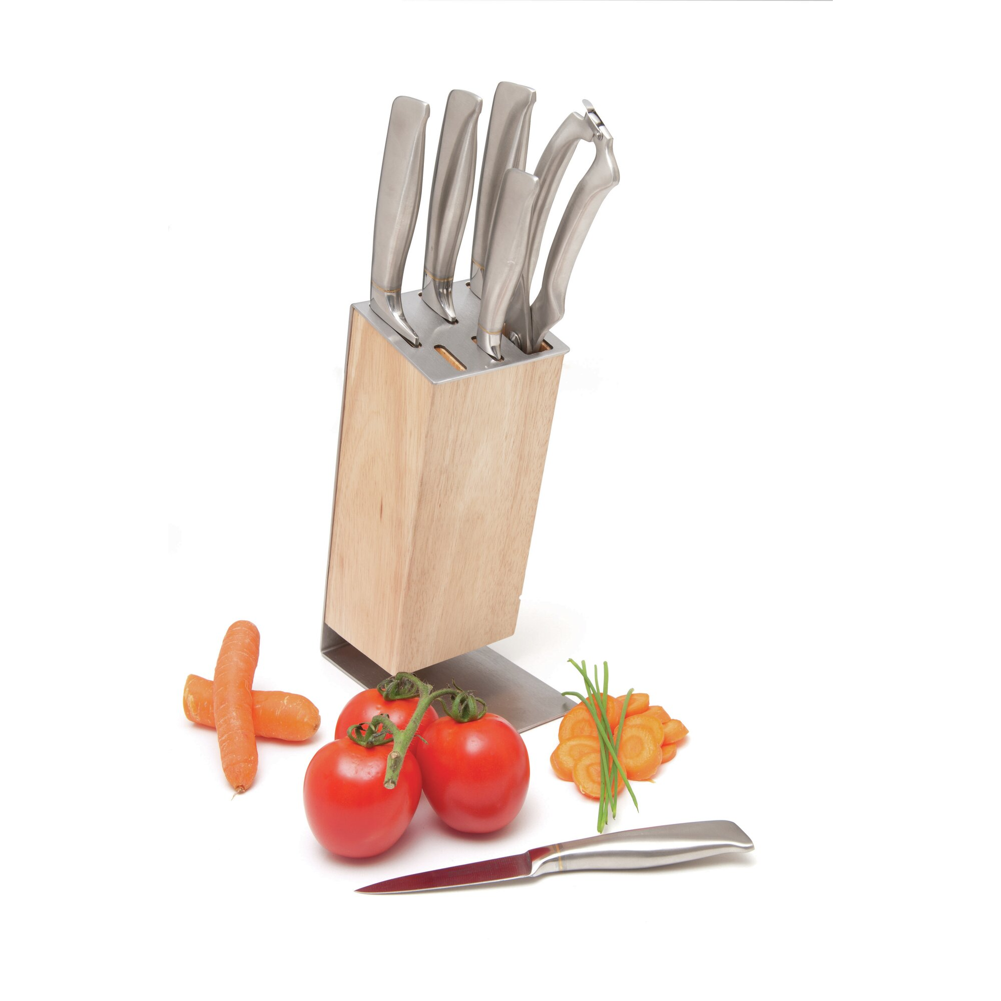 knife block set u0026 reviews wayfair 17 piece knife block set