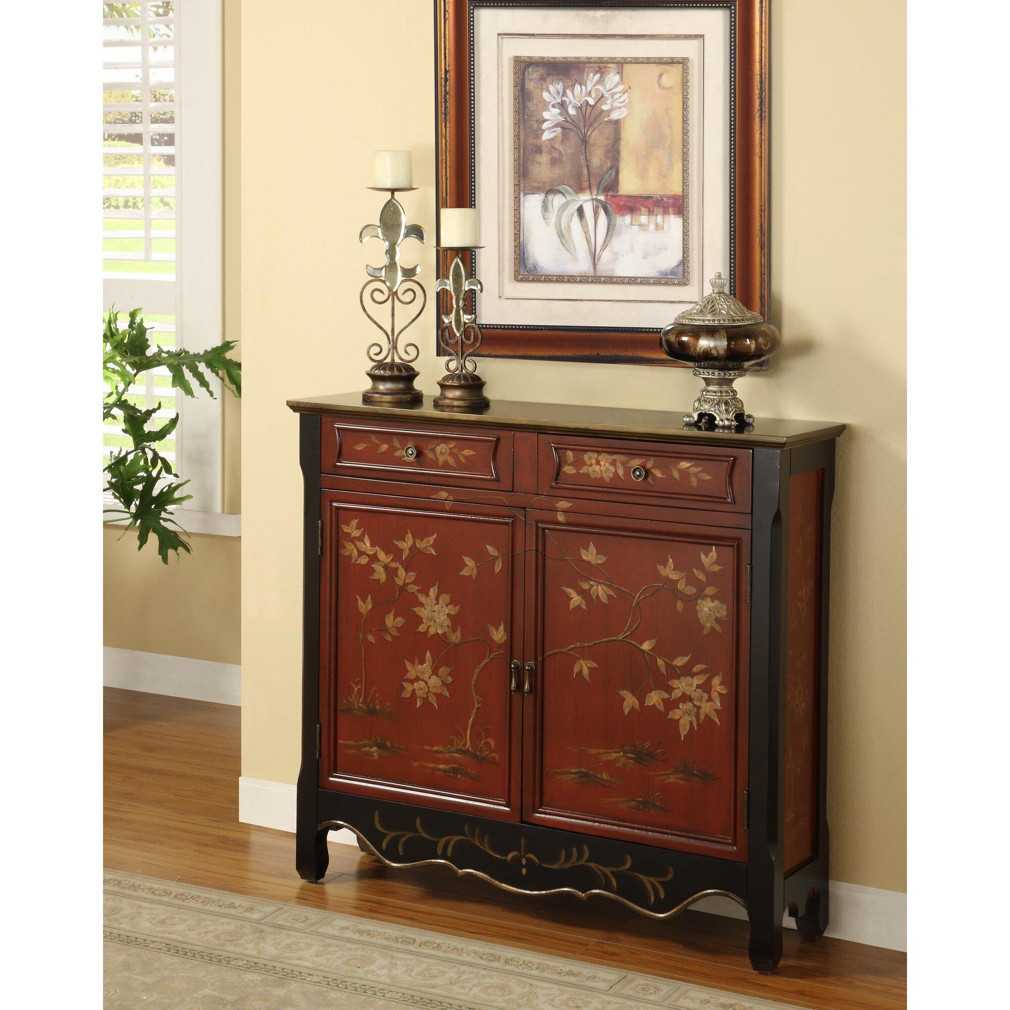Powell 2 door 2 drawer cabinet reviews wayfair for 1 drawer 2 door cabinet