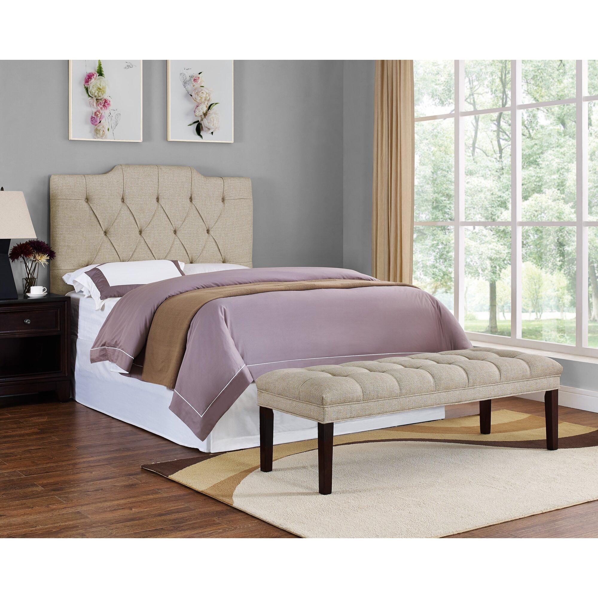 PRI Upholstered Tufted Bedroom Bench & Reviews | Wayfair