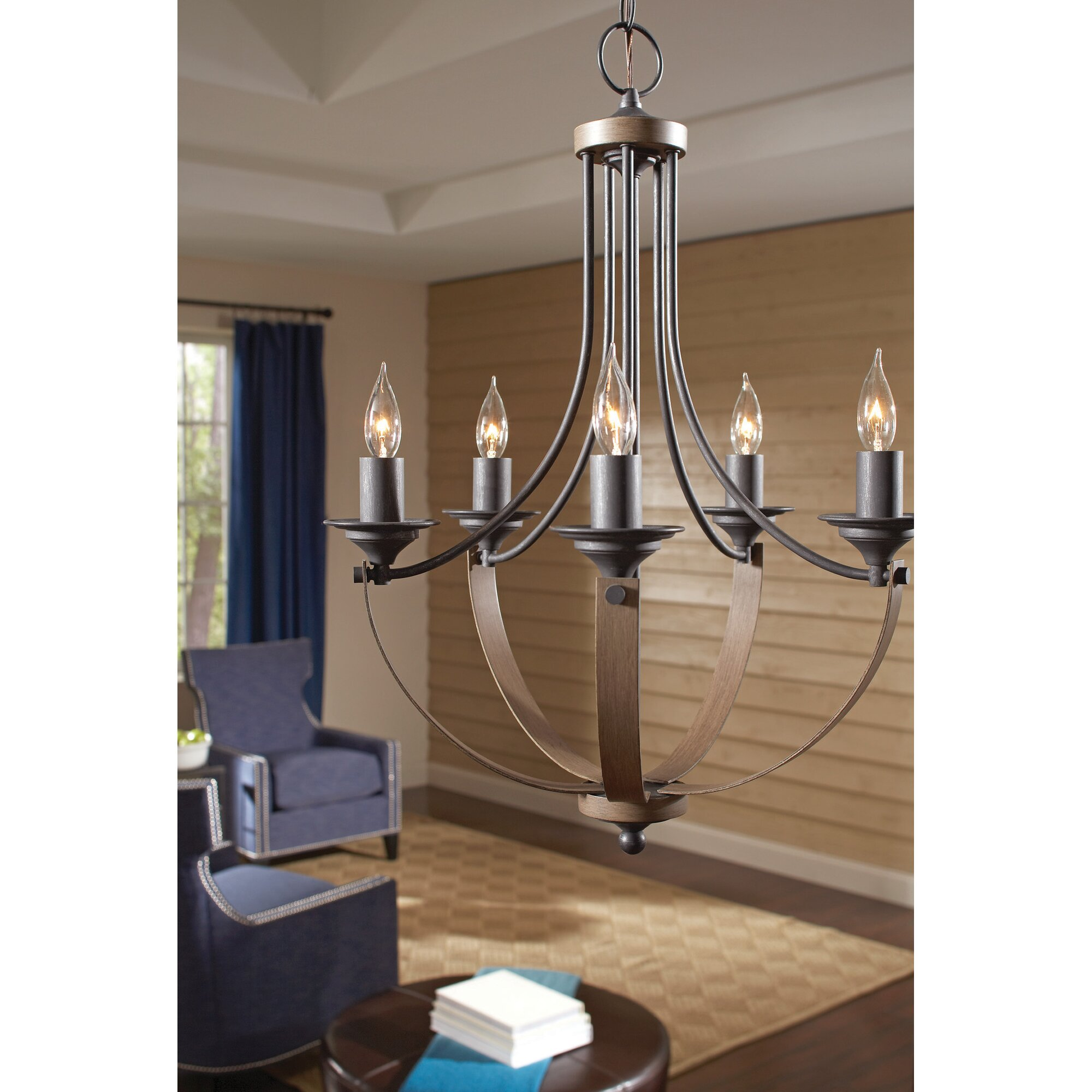 Birch lane camilla 9 light candle style chandelier for Luminaires suspendus salle manger