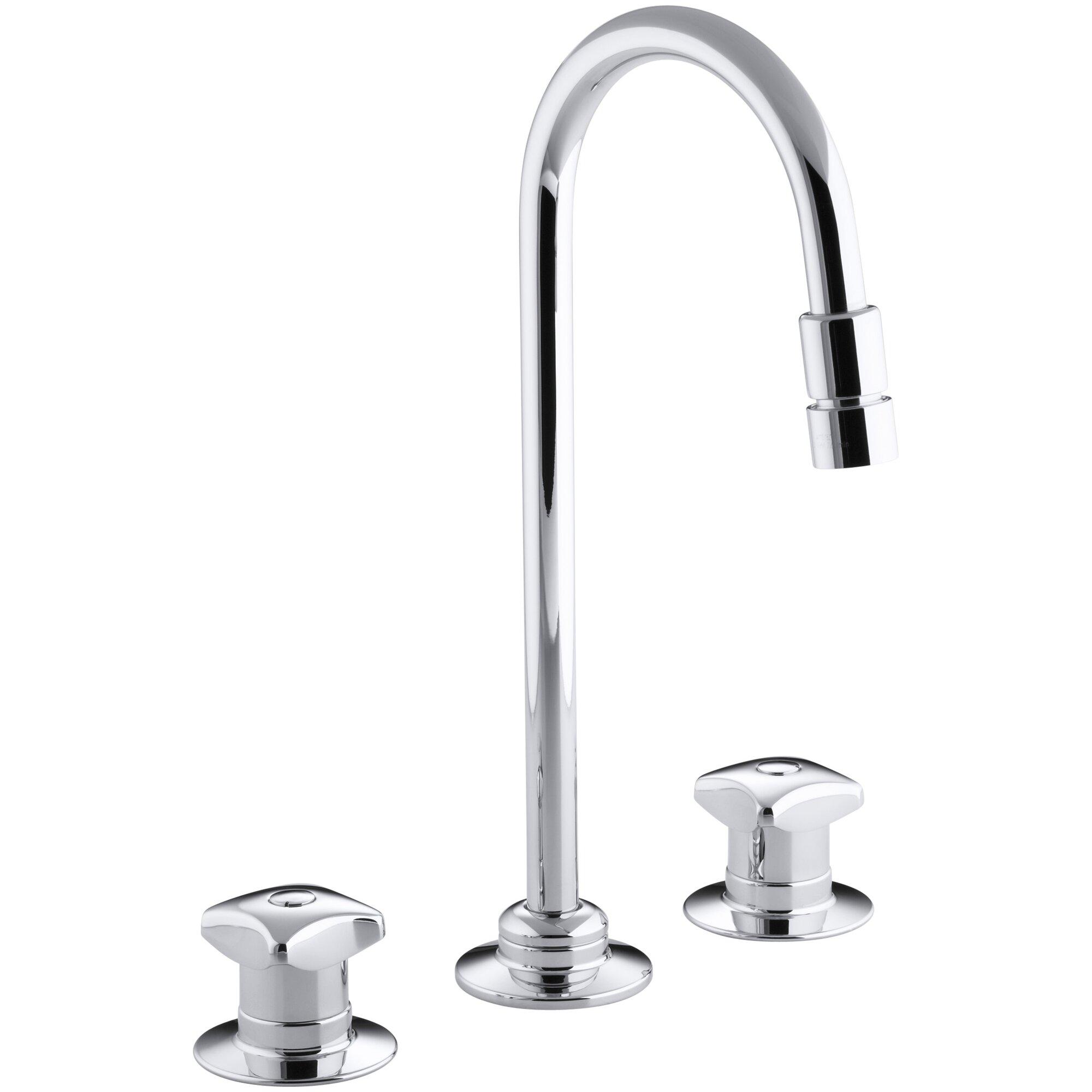 triton widespread commercial bathroom sink faucet with rigid