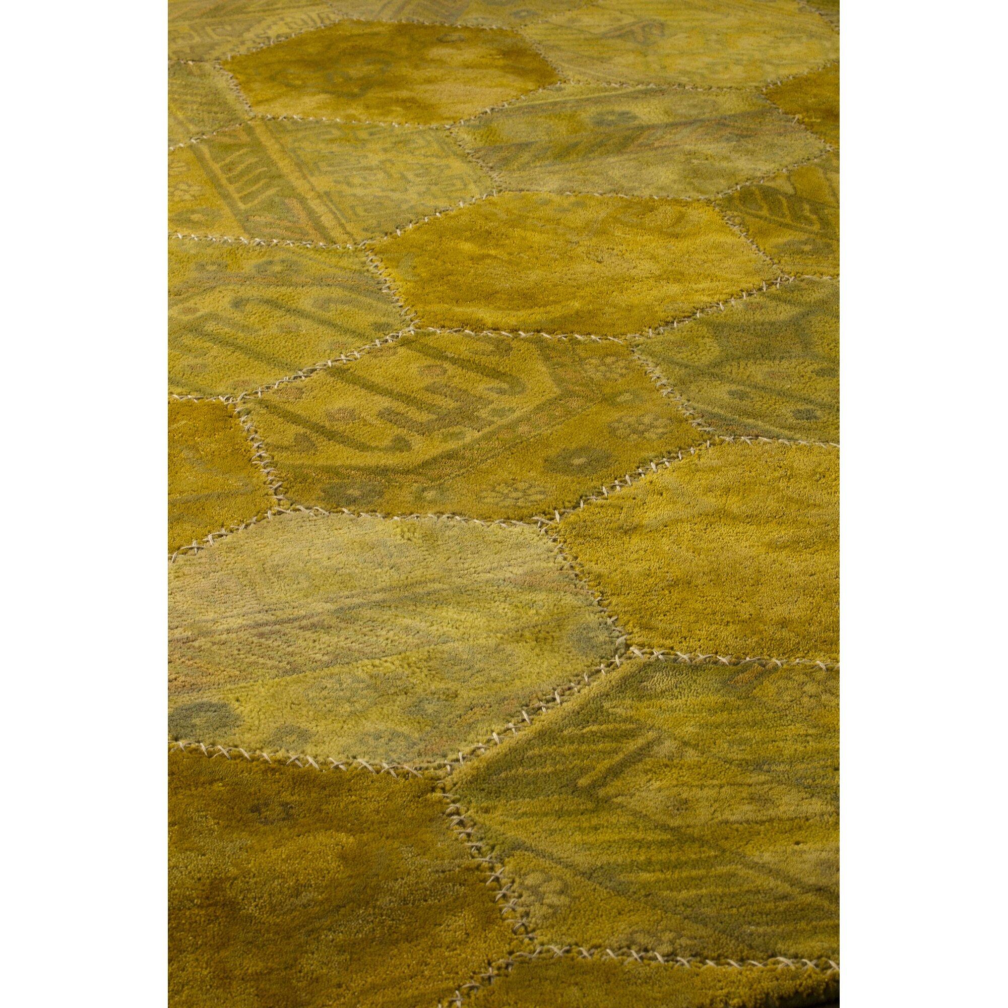 Hokku Designs Honey Comb Siena Gold Area Rug Wayfair