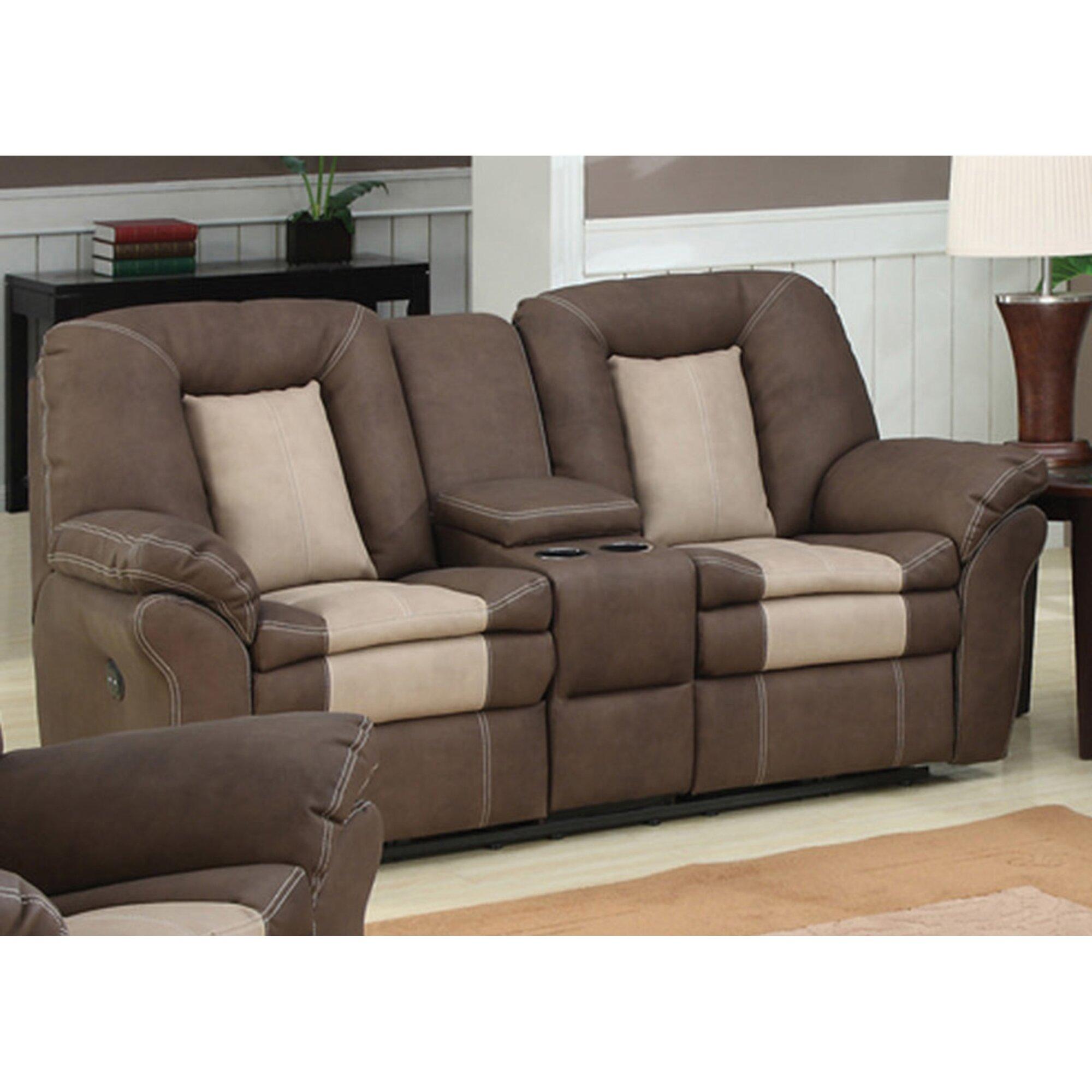 Ac pacific carson plush living room dual reclining sofa for Plush living room furniture