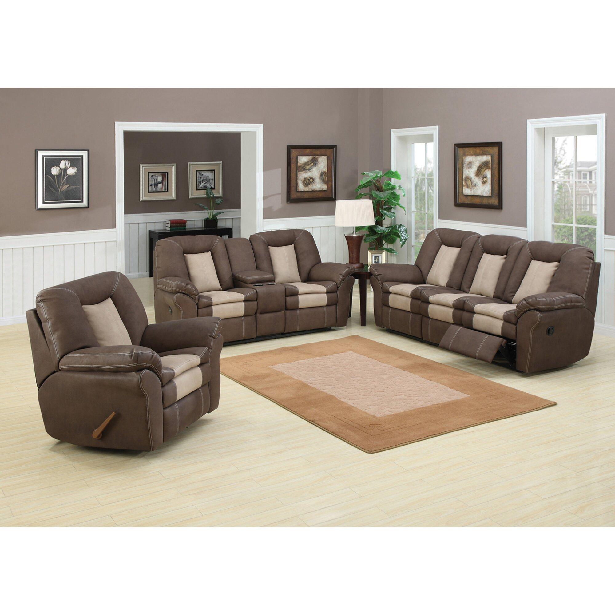 Ac Pacific Carson Plush Living Room Dual Reclining Sofa Reviews