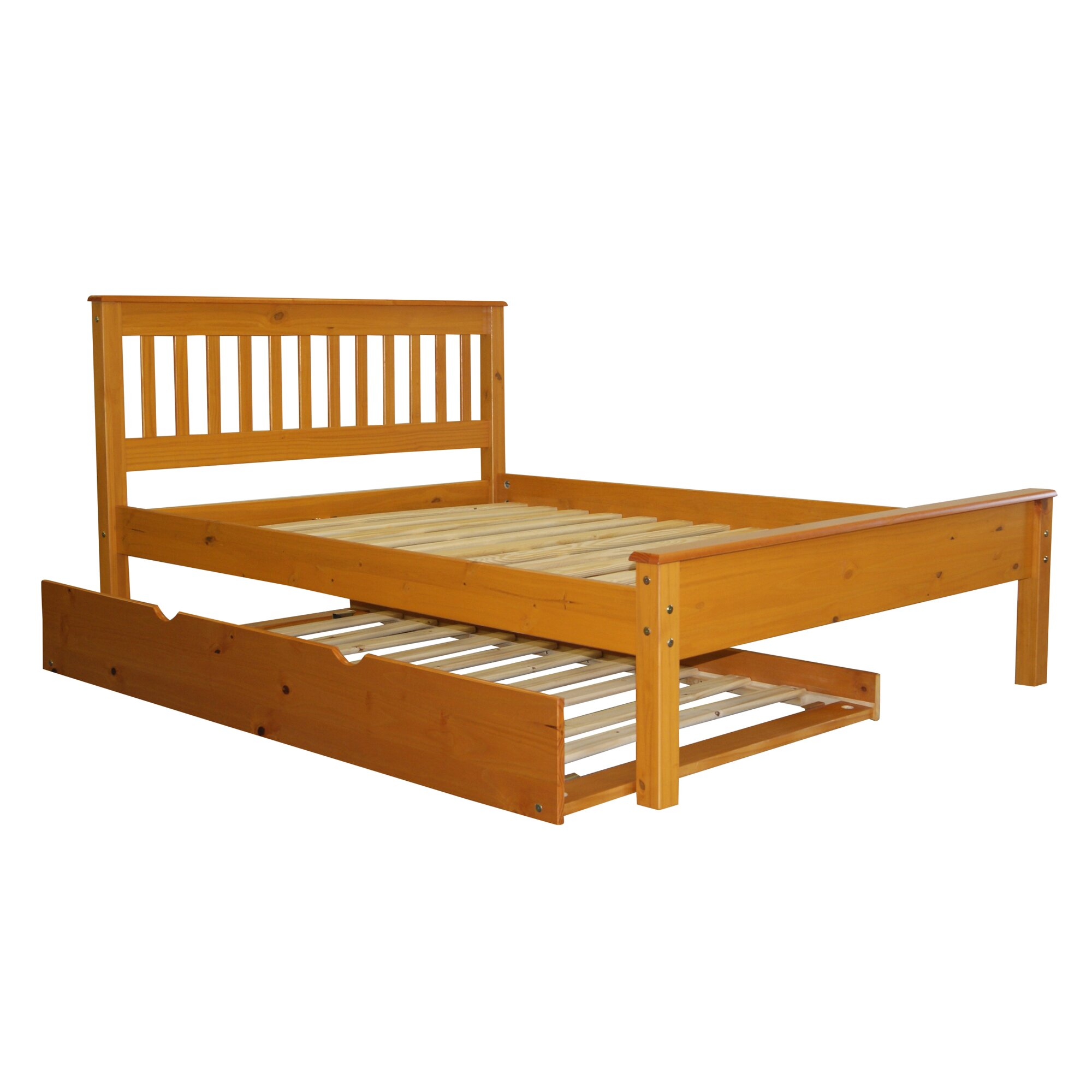 Bed Frame With Trundle Wood Headboard For Bed Black
