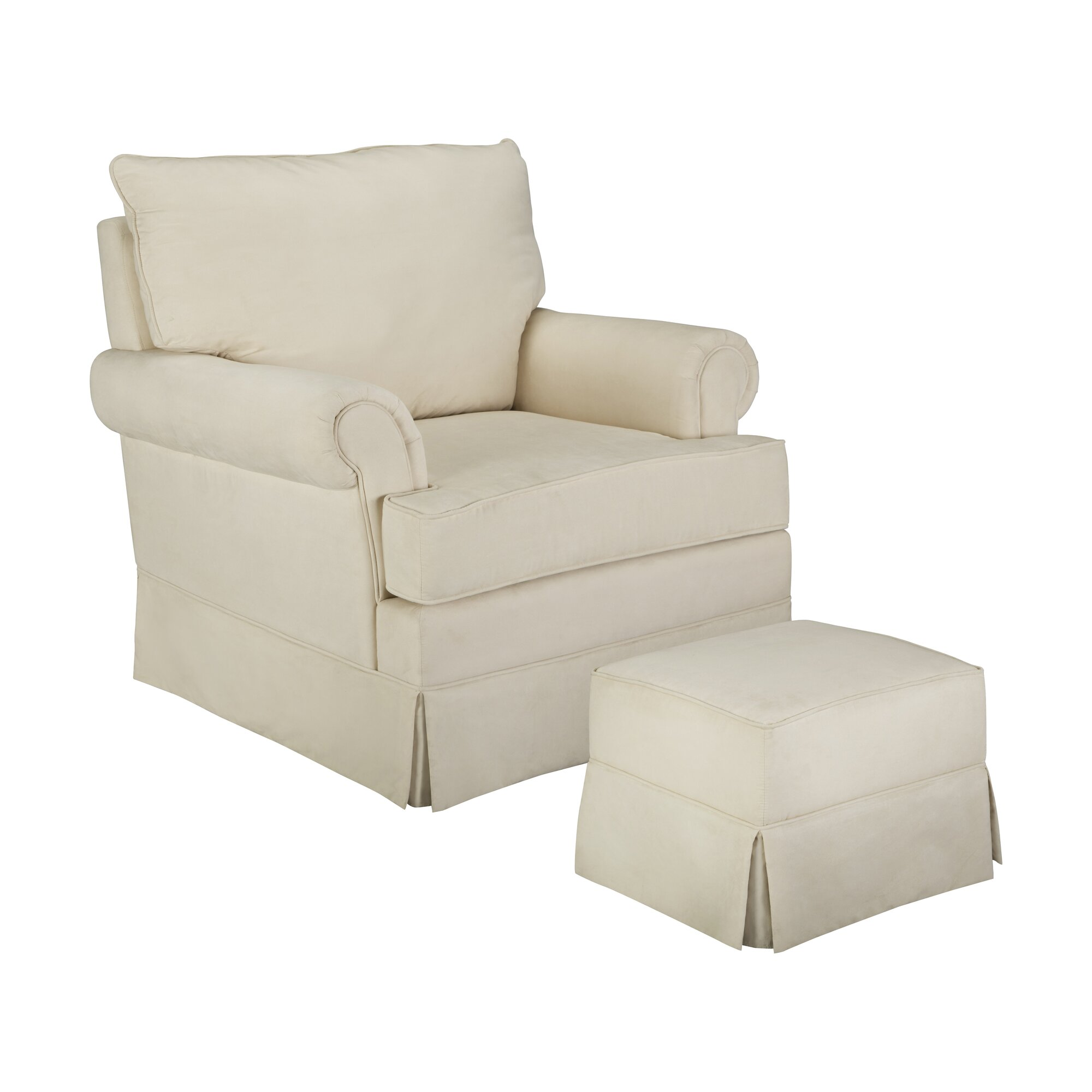 thomasvillekids grand royale swivel glider and ottoman reviews wayfair. Black Bedroom Furniture Sets. Home Design Ideas