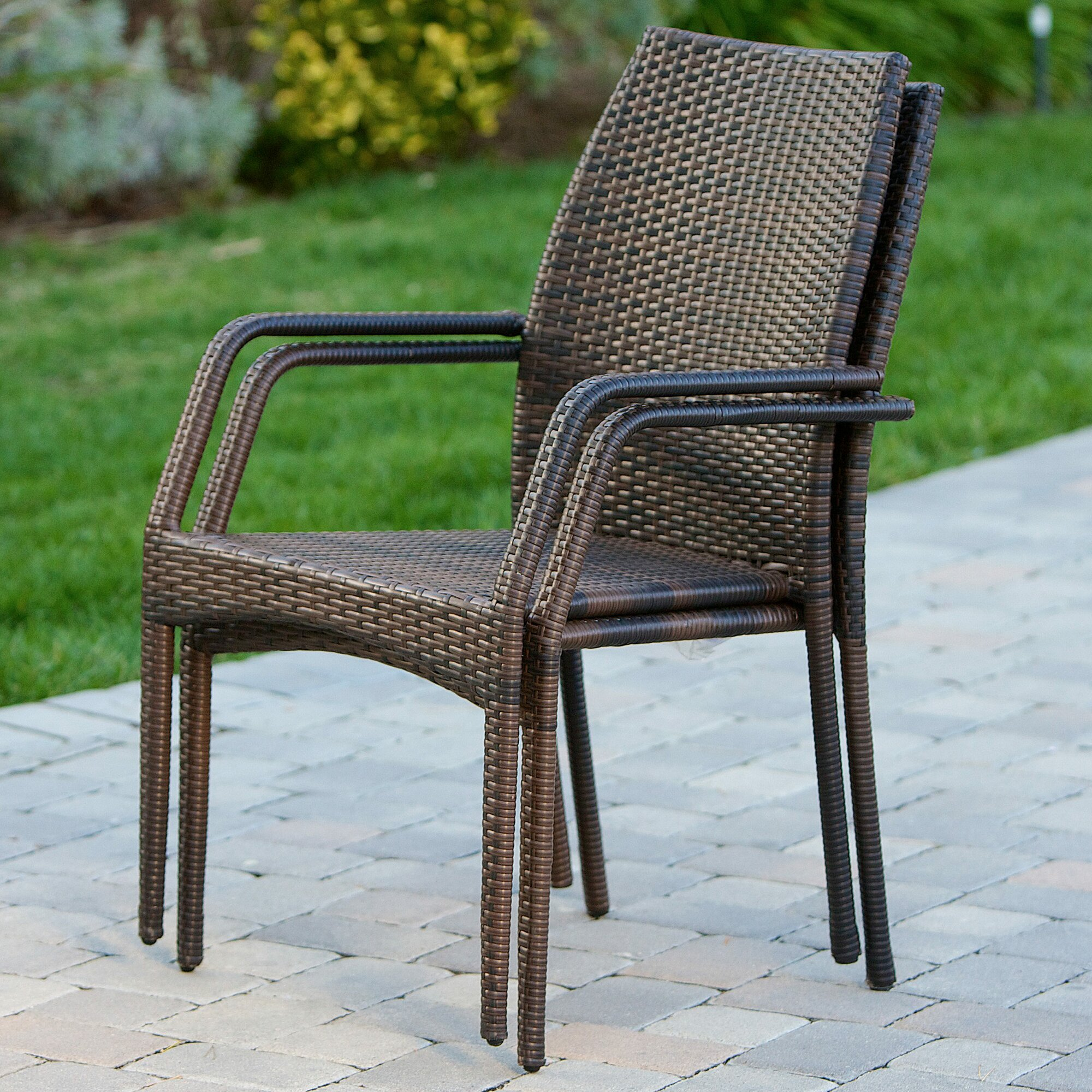 Stacking Dining Room Chairs: Mercury Row Herod Stacking Dining Arm Chair & Reviews