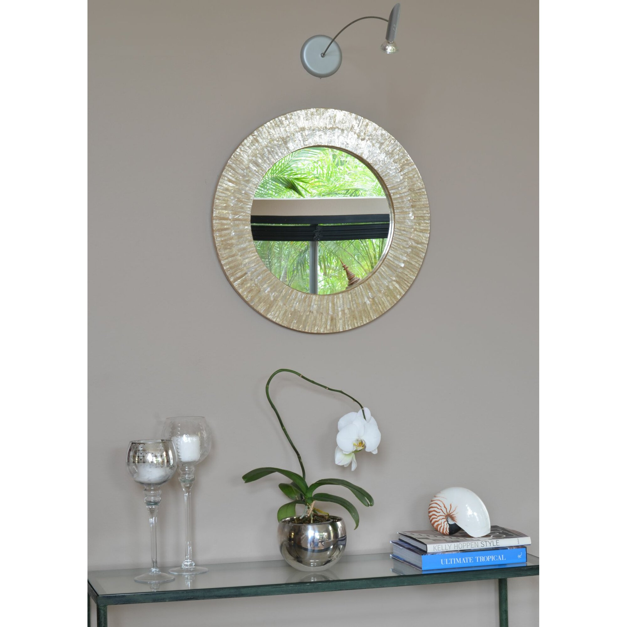 Wire Capiz Sunburst Wall Mirror - Cool capiz seashell sunray wall mirror with capiz mirror