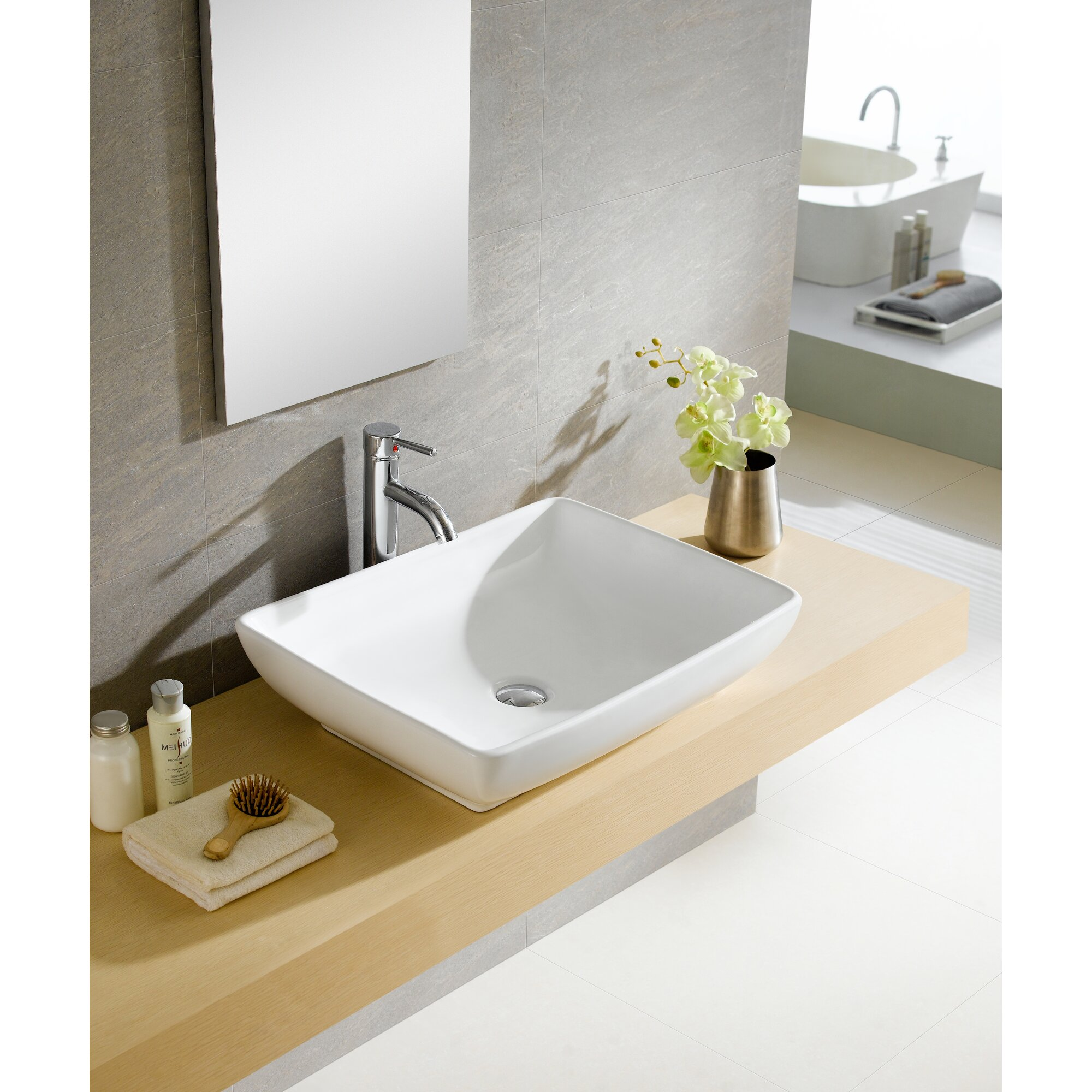rectangular vessel bathroom sink fixtures modern vitreous rectangular vessel bathroom 20123