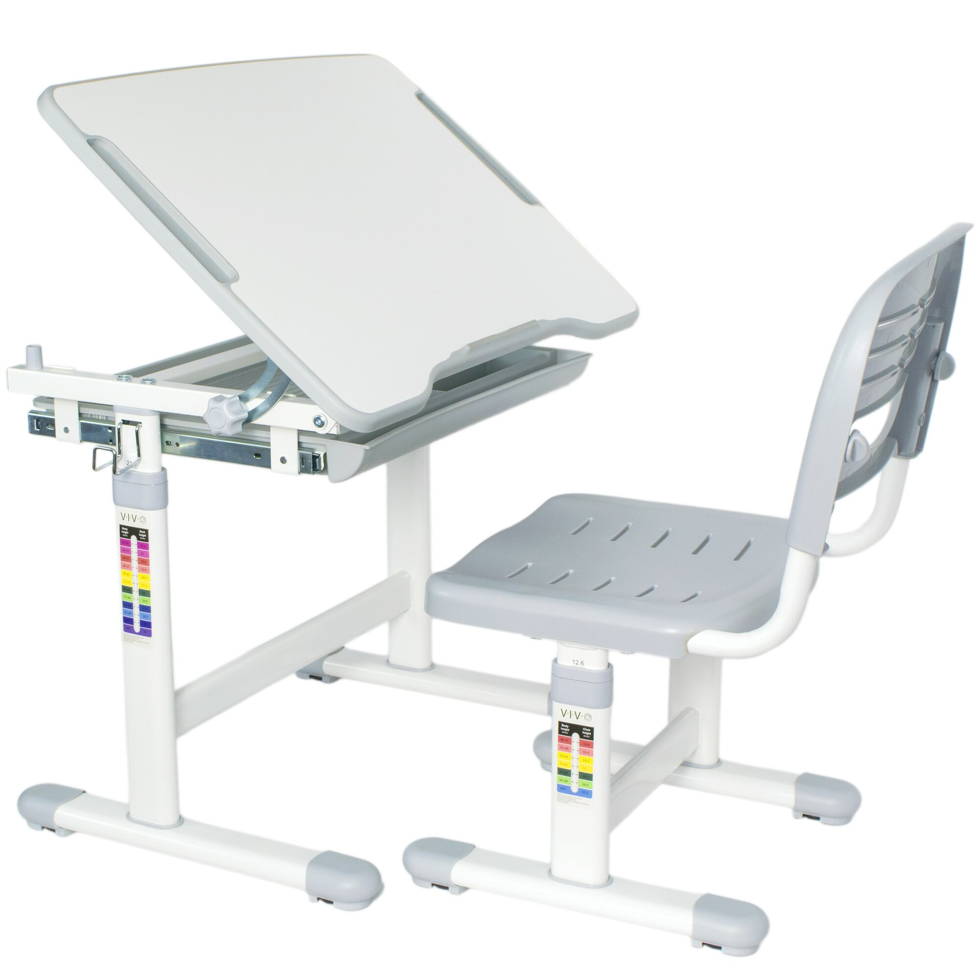 Vivo Vivo Height Adjustable Children S Desk With Chair