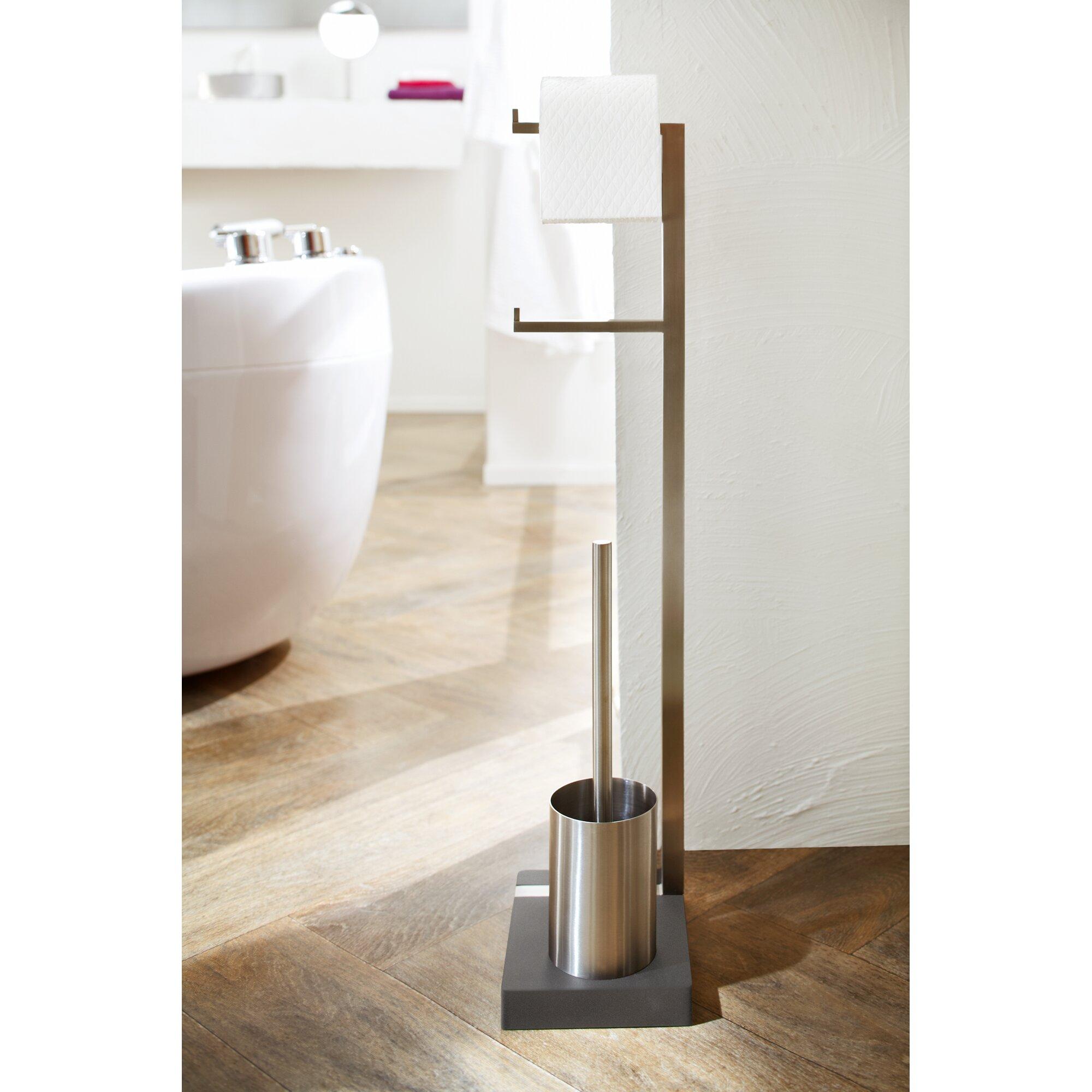free standing toilet - menoto free standing toilet brush set reviews allmodern