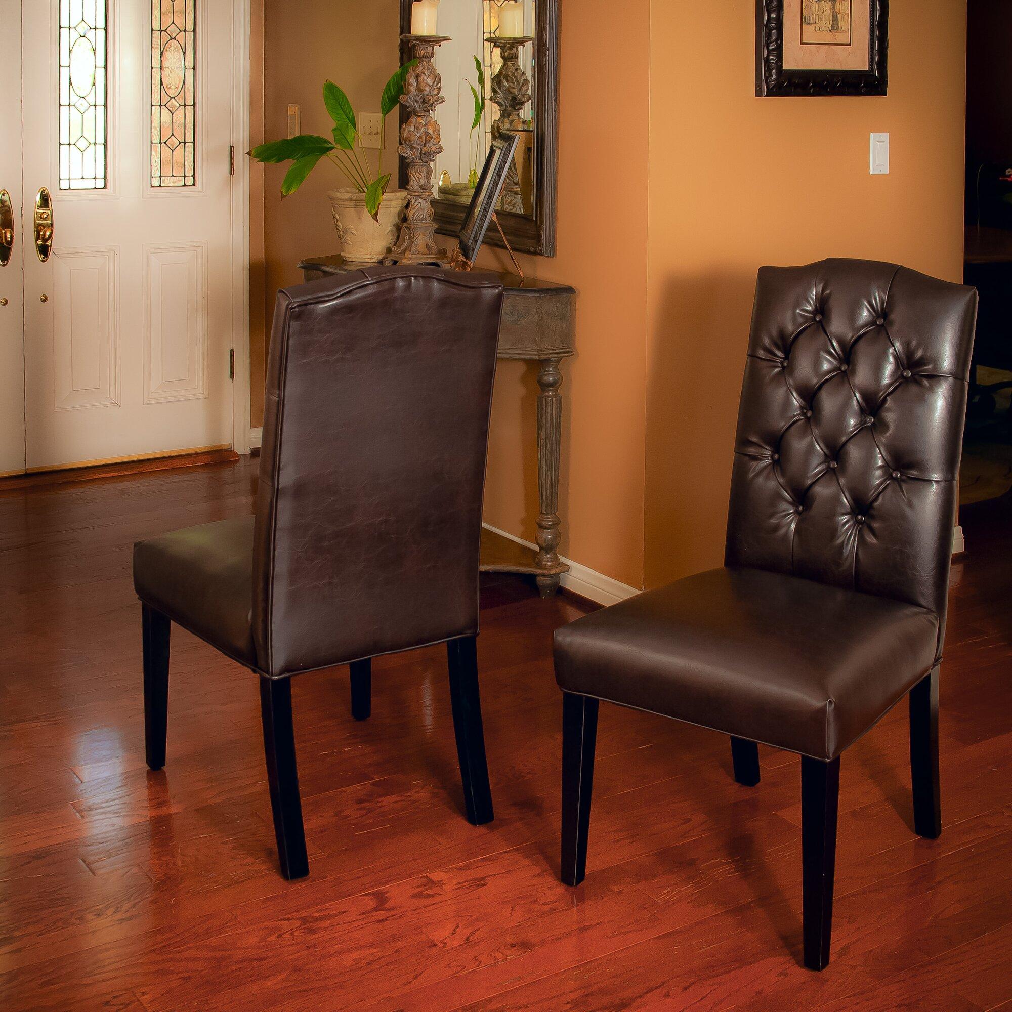 Orange Parsons Chair