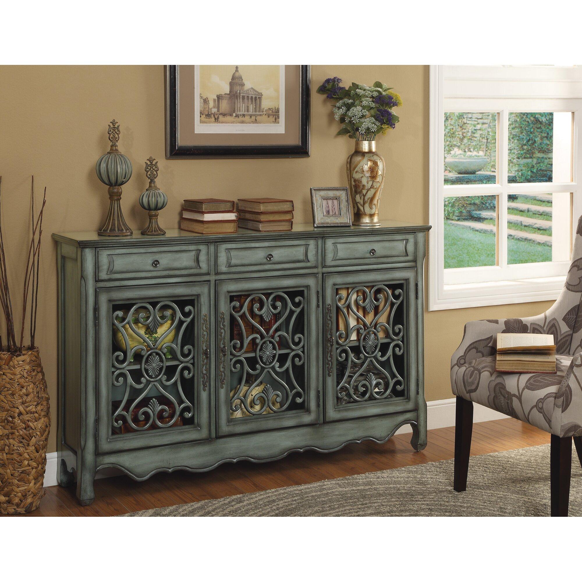 cachan 3 drawer 3 door sideboard reviews birch lane. Black Bedroom Furniture Sets. Home Design Ideas