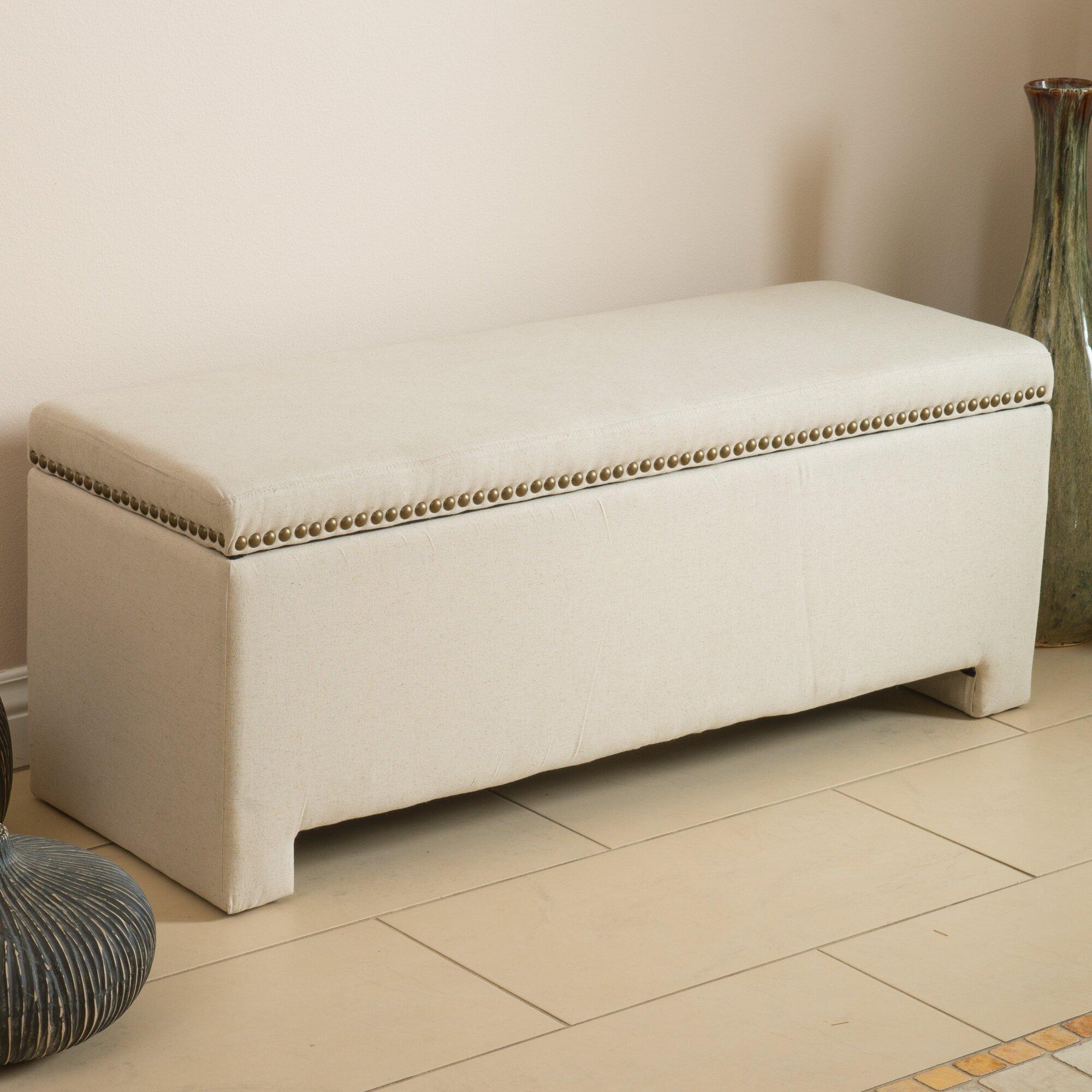 Alcott Hill Cloville Upholstered Storage Bedroom Bench Reviews