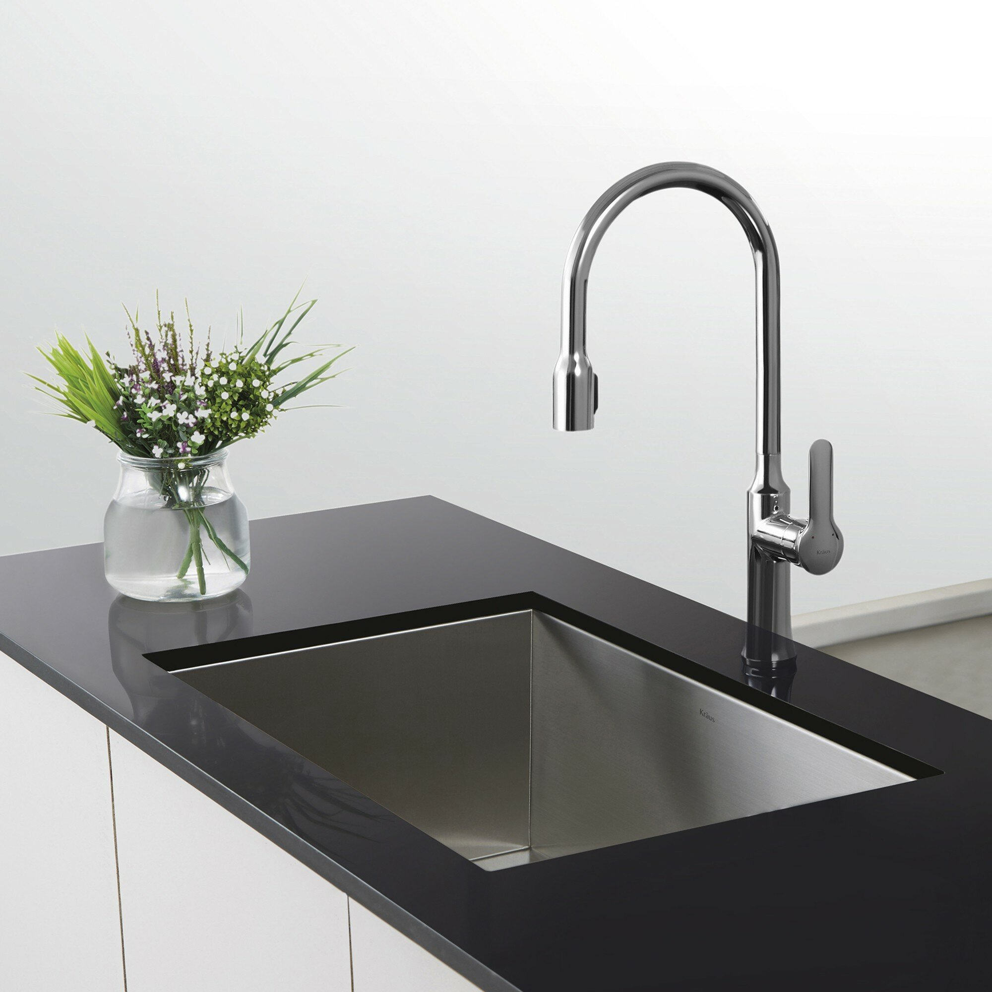 Oil Rubbed Bronze Waterfall Dual Handle Bathroom Sink Faucet