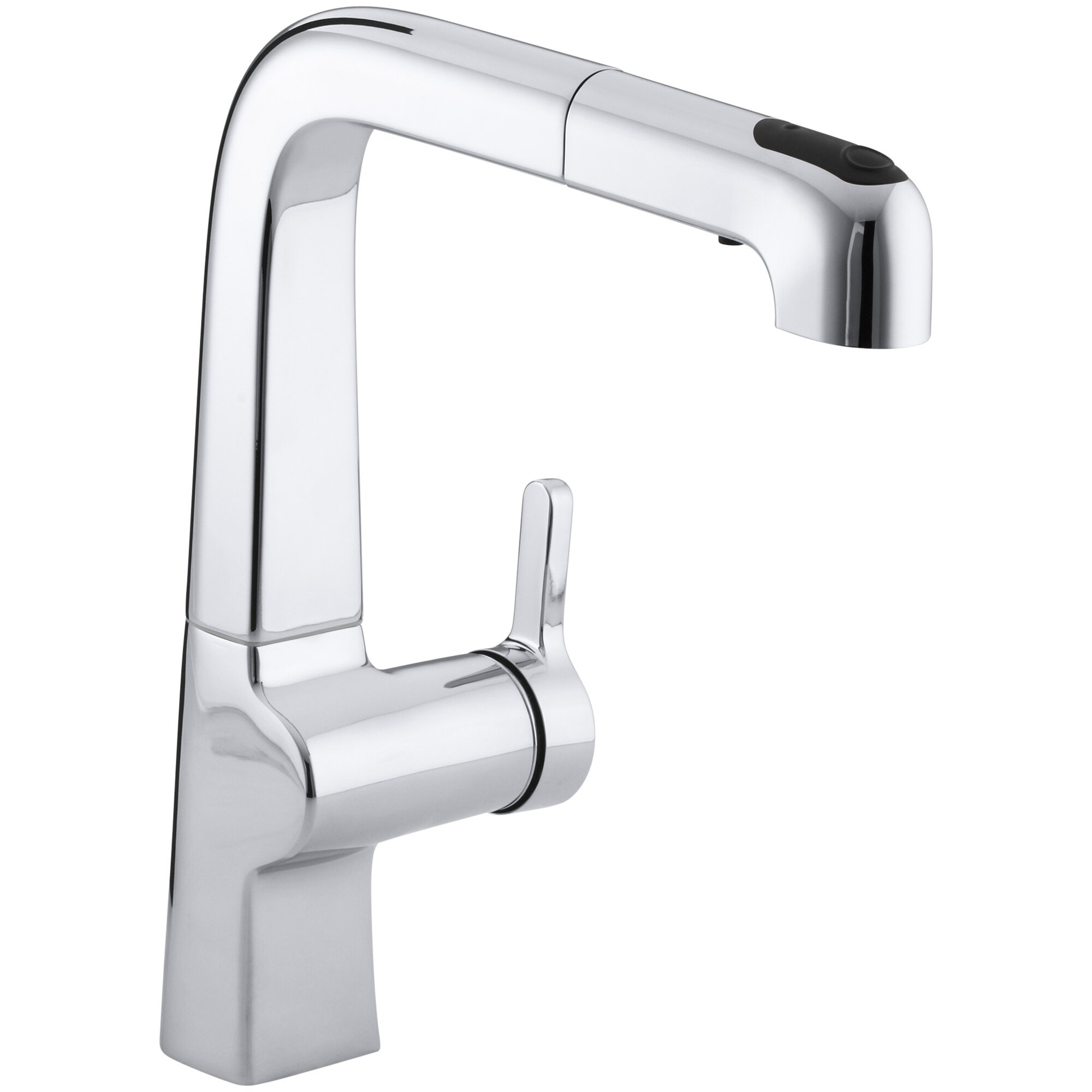 evoke single hole kitchen sink faucet with 9 pullout spout - Kitchen Sink Faucets
