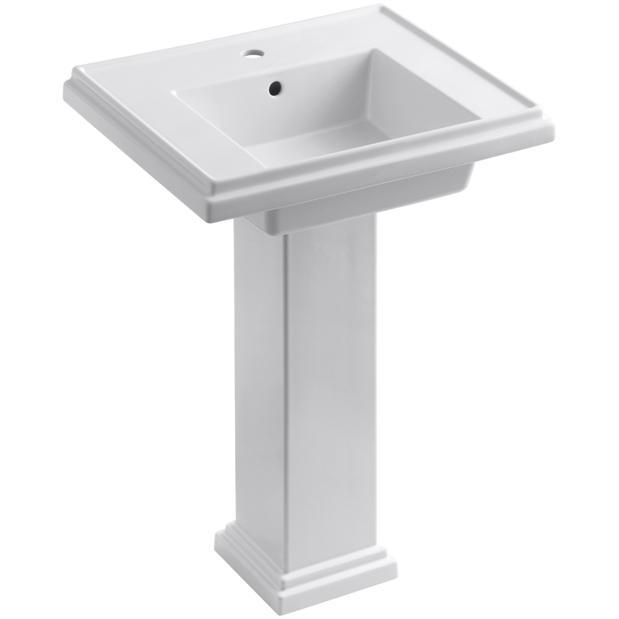 Kohler TreshamR 24 Pedestal Bathroom Sink With Overflow