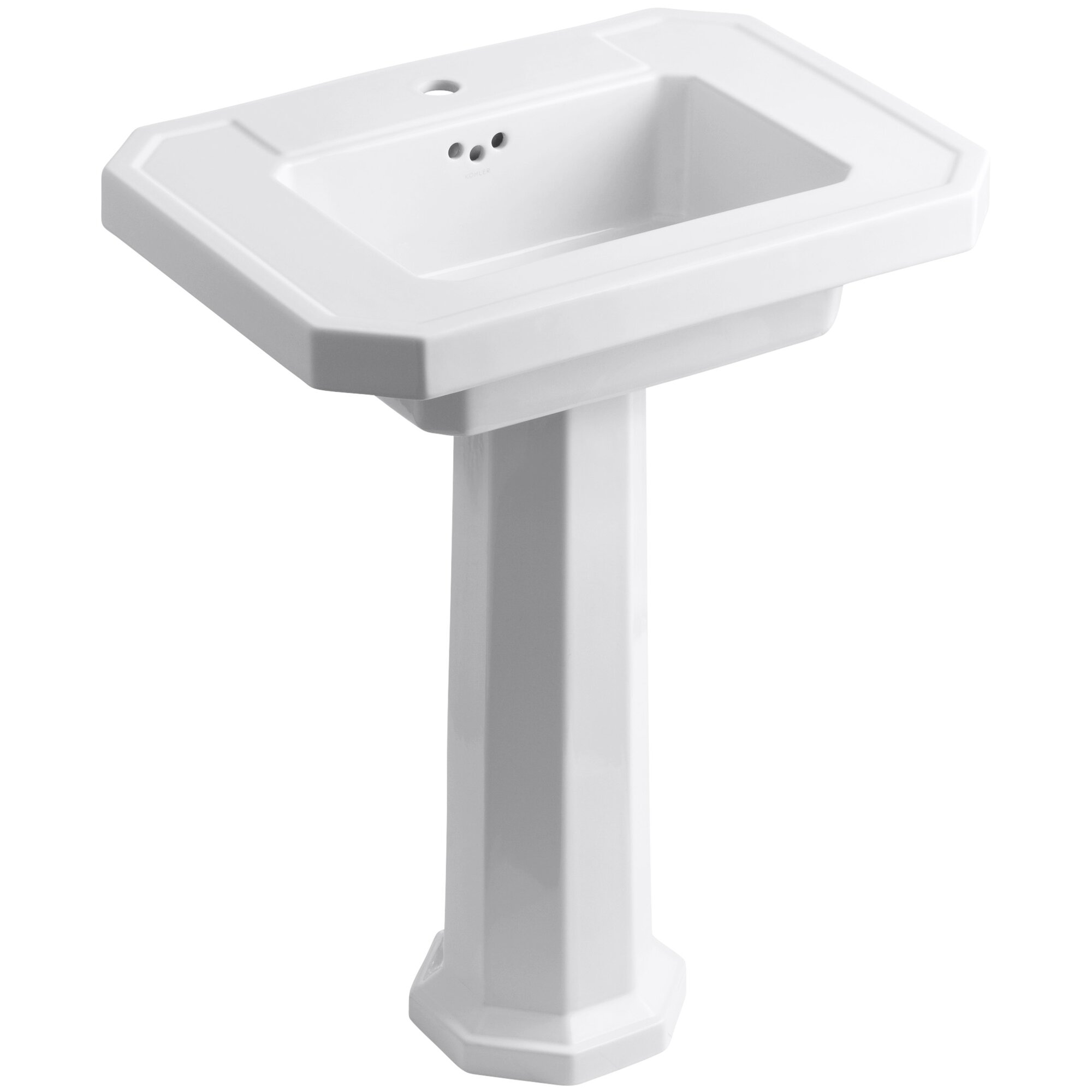 Kohler Kathryn 27 Pedestal Bathroom Sink With Overflow