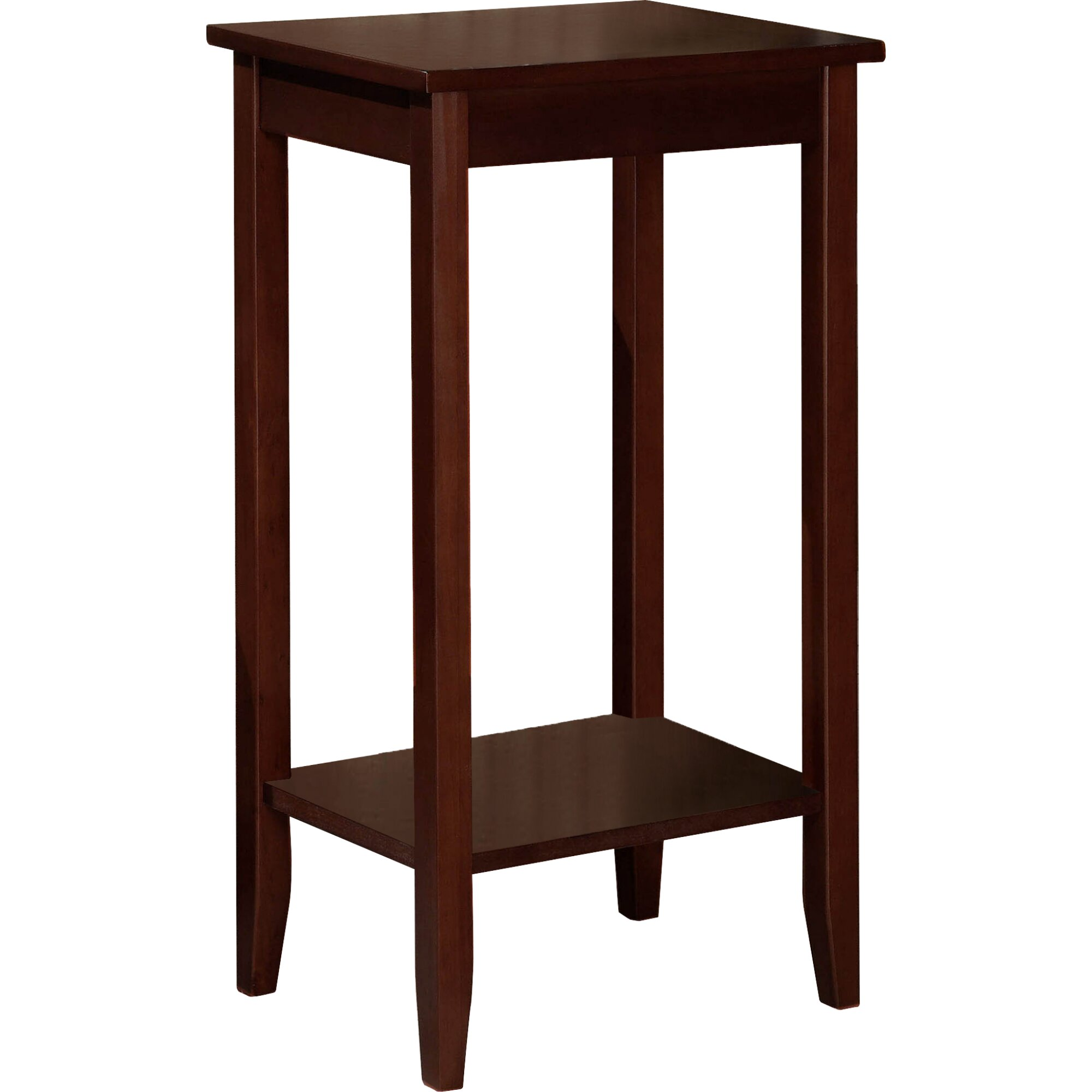 Dhp rosewood tall end table reviews wayfair for Tall side table
