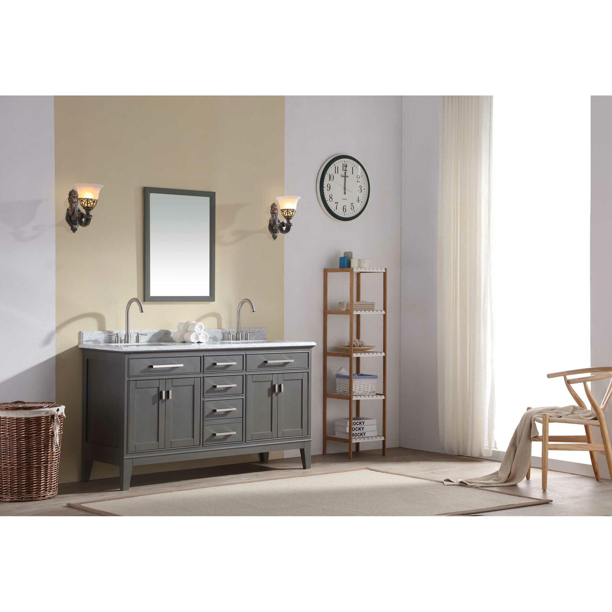Double bathroom vanity - Danny 60 Double Bathroom Vanity Set