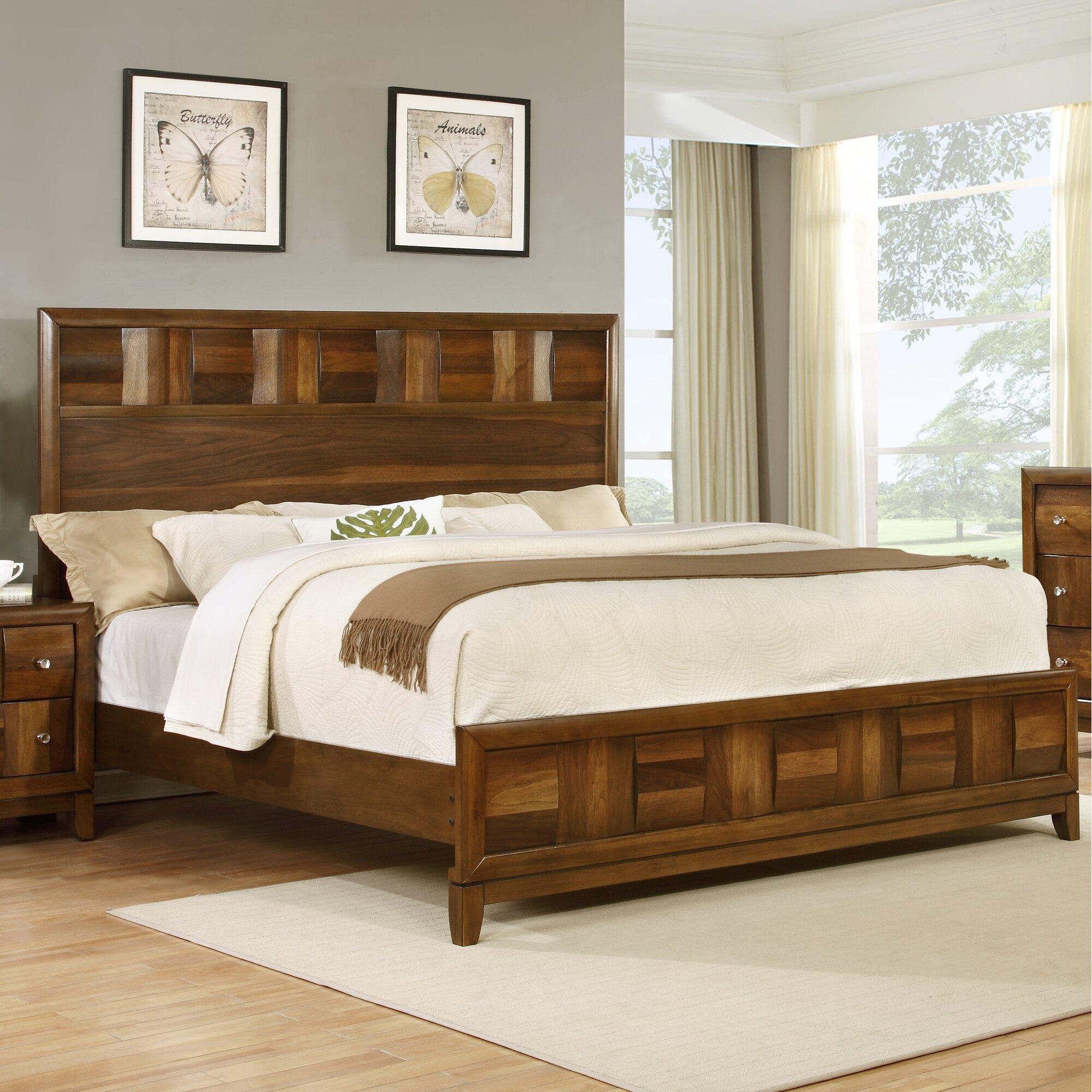 roundhill furniture calais panel  piece bedroom set  wayfair, Bedroom designs
