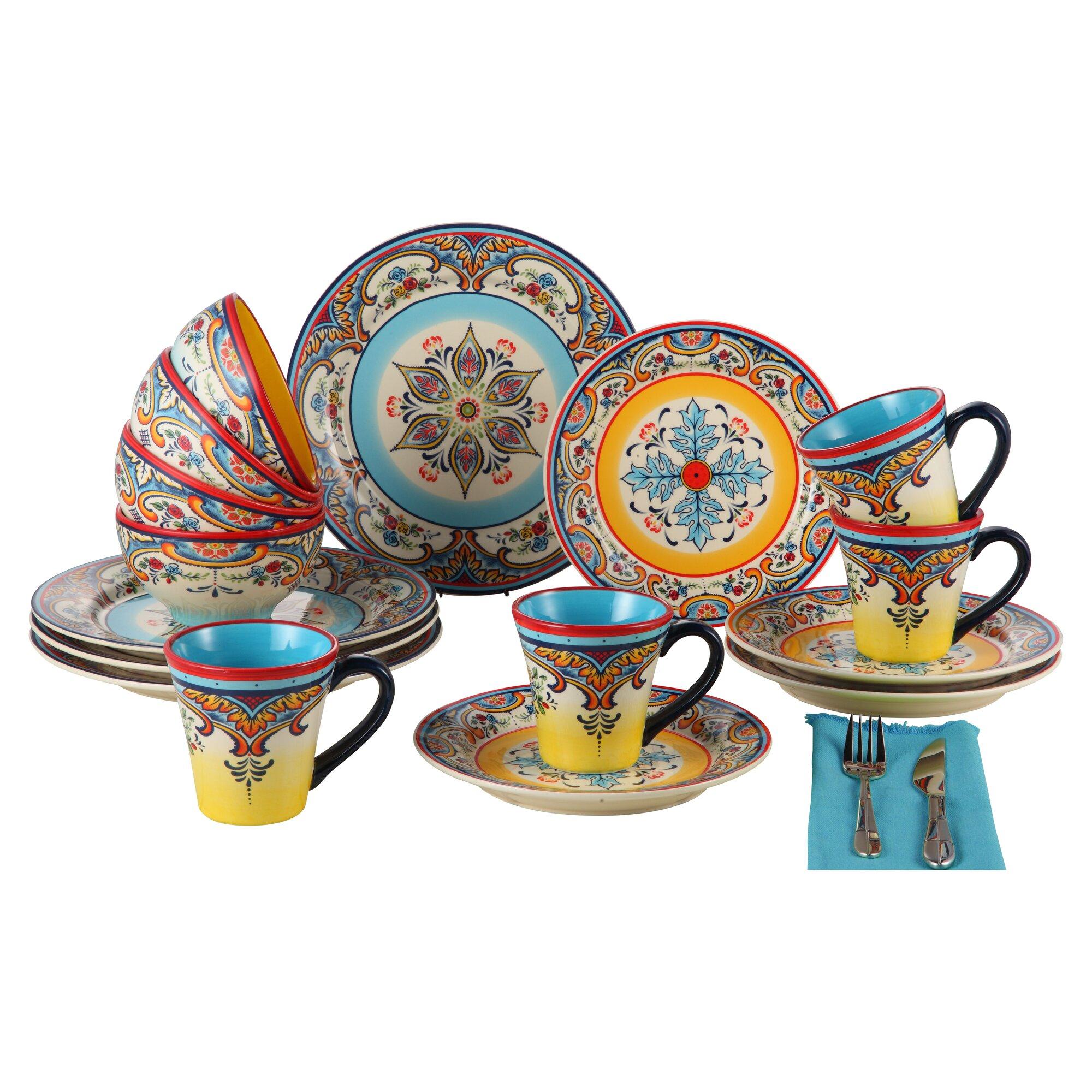 Euroceramica Zanzibar 16 Piece Dinnerware Set Service For