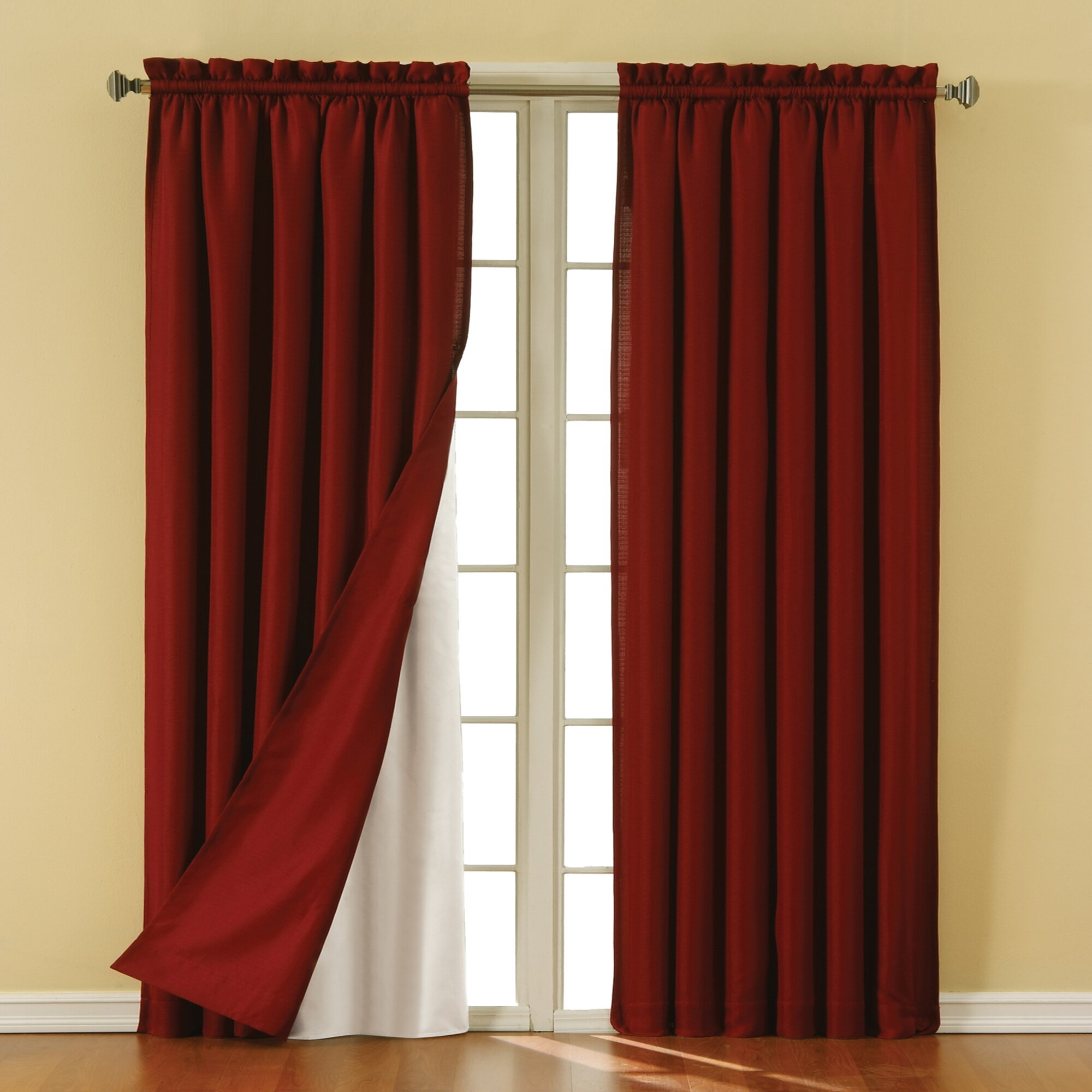Eclipse Curtains Solid Blackout Rod pocket Curtain Panel