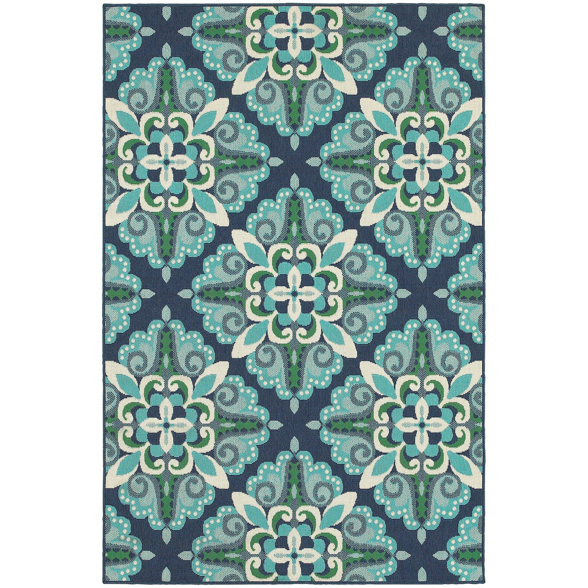 Threadbind Cortlandt Blue/Green Indoor/Outdoor Area Rug