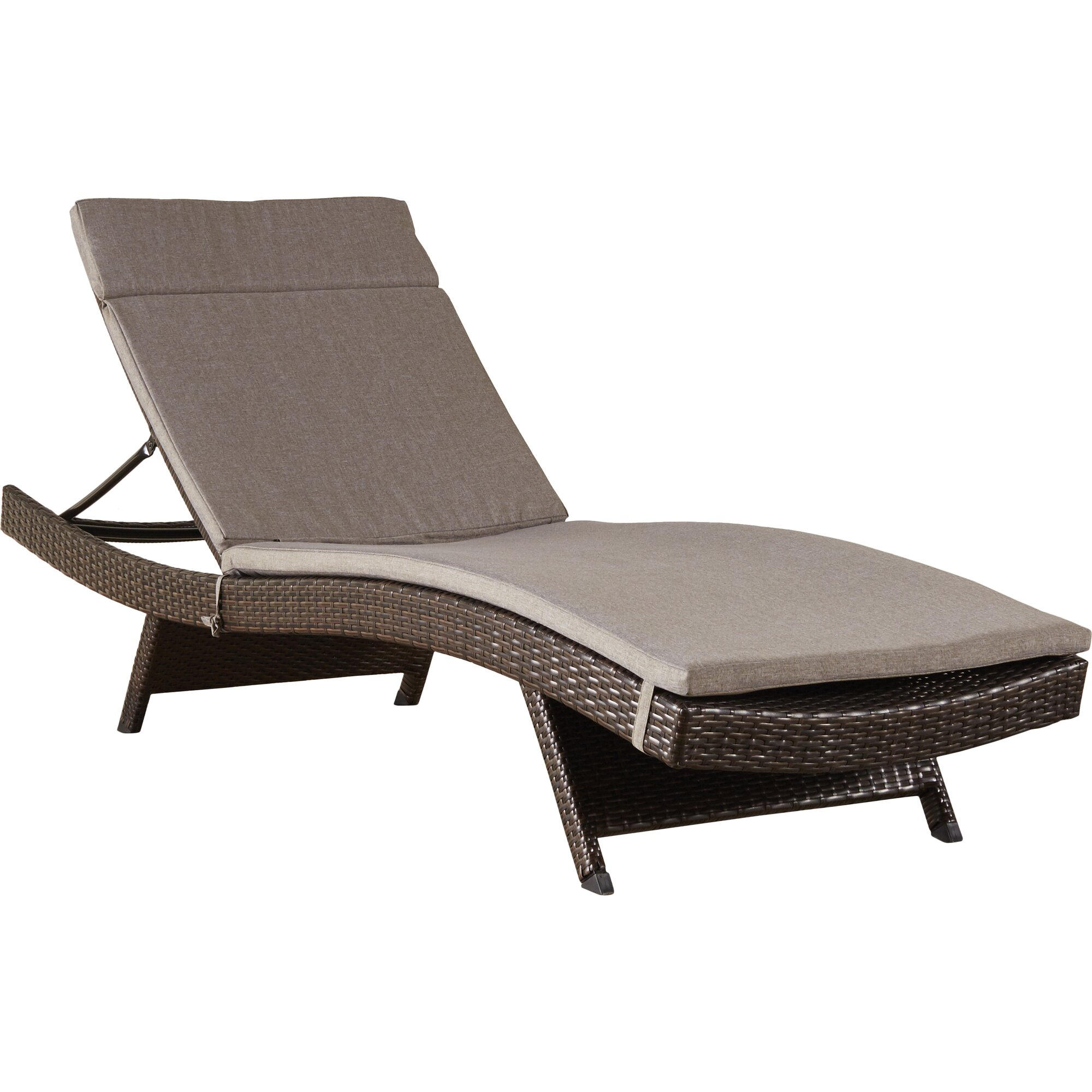 Ferrara chaise lounge with cushion reviews allmodern for Chaise longue cushion
