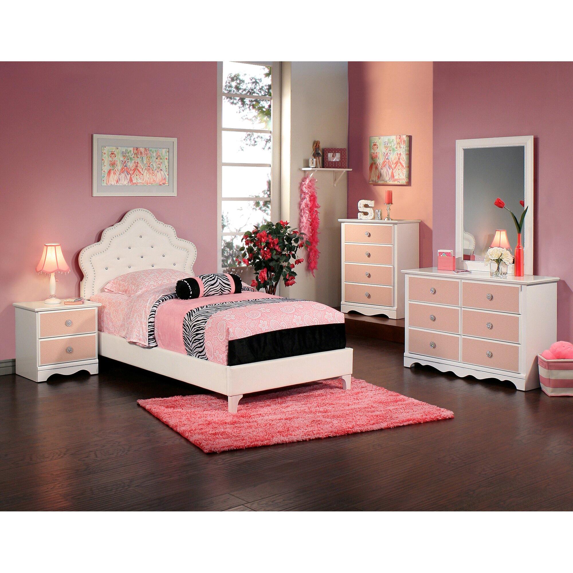 Sandberg Furniture Sabrina Panel Customizable Bedroom Set ...