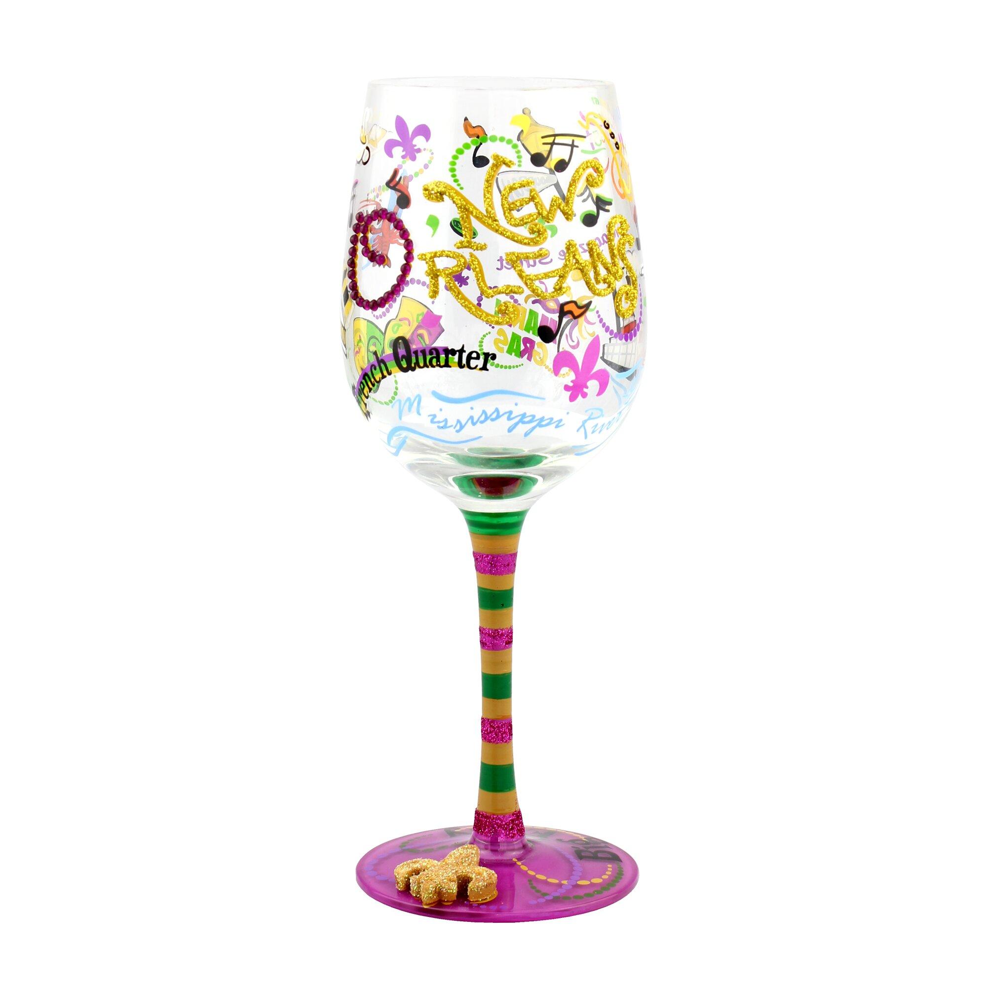 Top Shelf New Orleans Wine Glass Amp Reviews Wayfair