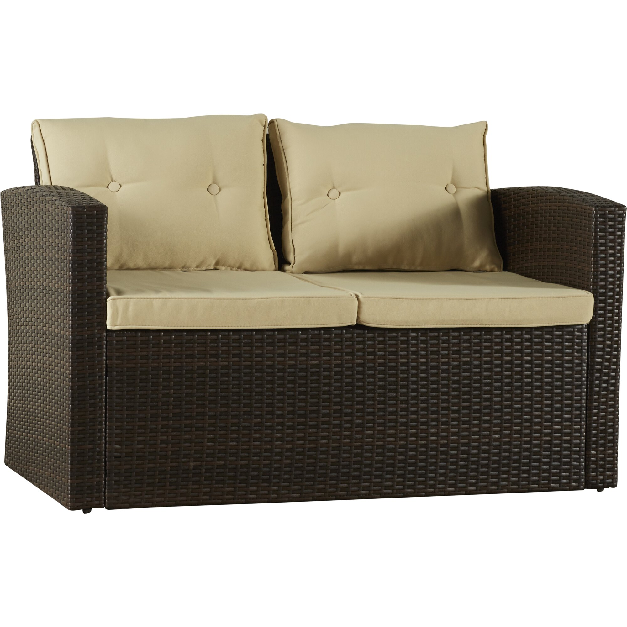 Alcott Hill Raven 4 Piece Seating Group with Cushion u0026 Reviews : Wayfair