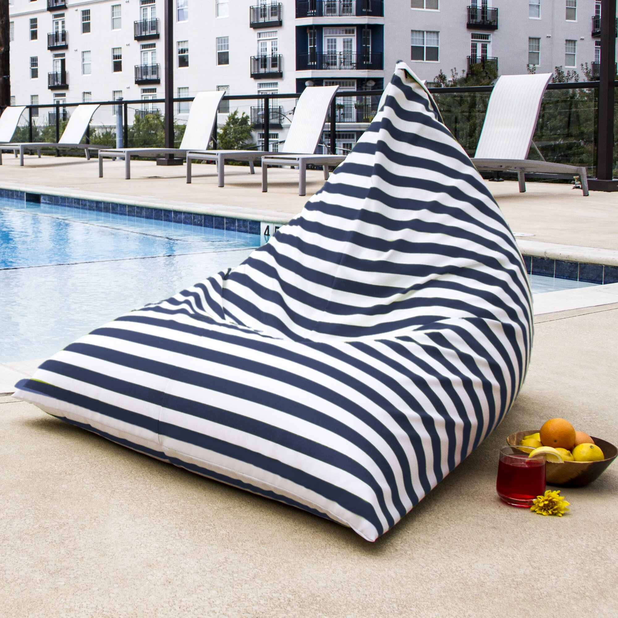 outdoor beanbag chairs - jaxx twist outdoor bean bag chair reviews wayfair