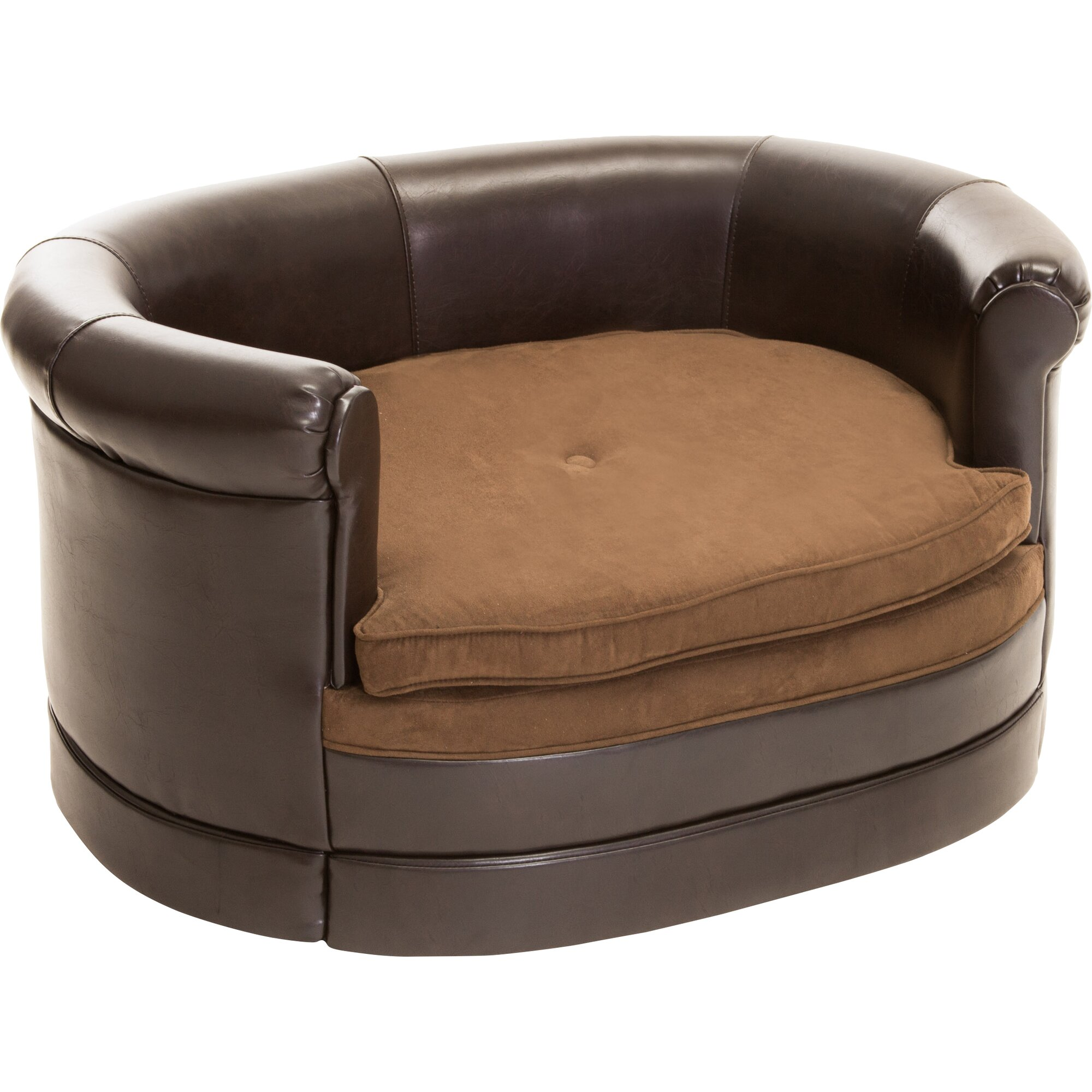 home loft concepts dofferville oval cushy dog sofa. Black Bedroom Furniture Sets. Home Design Ideas