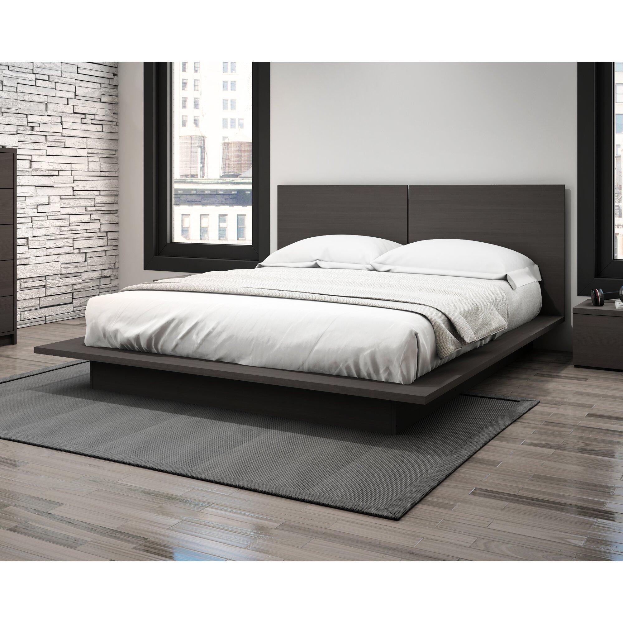 allendale queen platform bed  reviews  allmodern - allendale queen platform bed