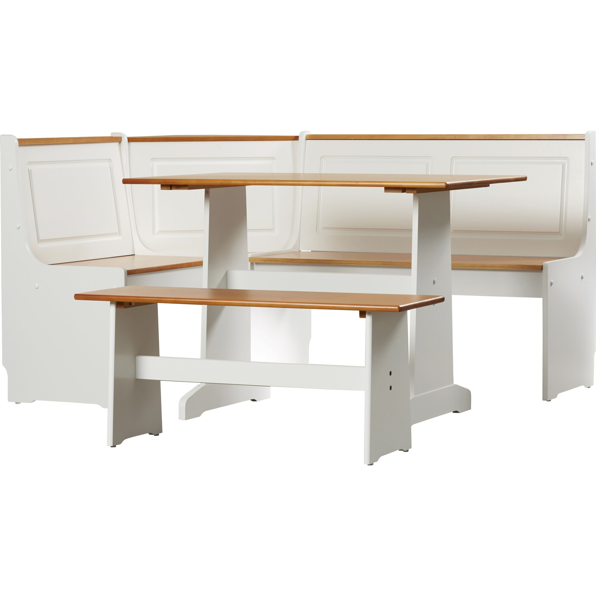 August Grove Birtie 3 Piece Breakfast Nook Dining Set