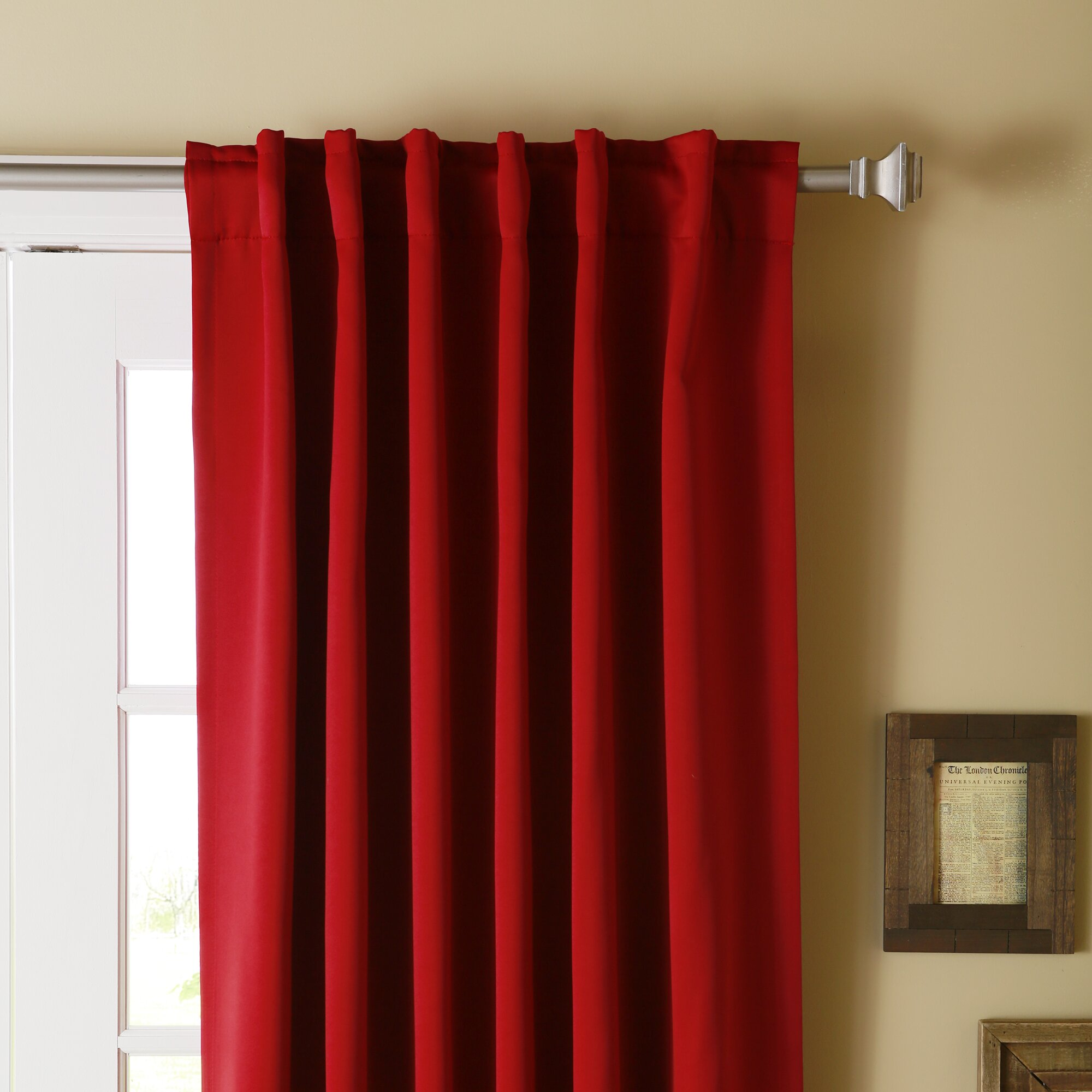 Best Home Fashion Inc Solid Blackout Thermal Rod Pocket Single Curtain Panel Reviews Wayfair