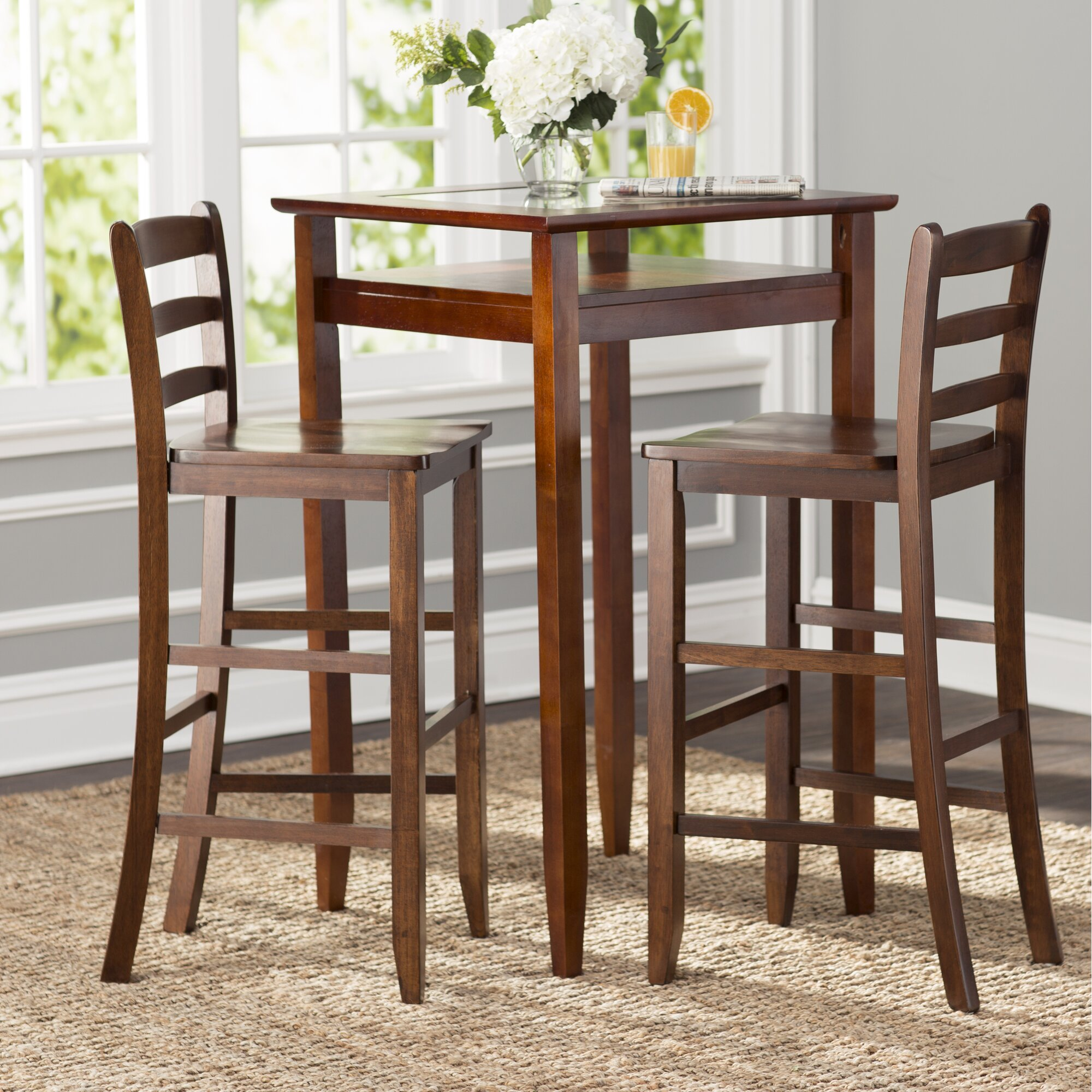 Kitchen bar table sets - Halo 3 Piece Pub Table Set