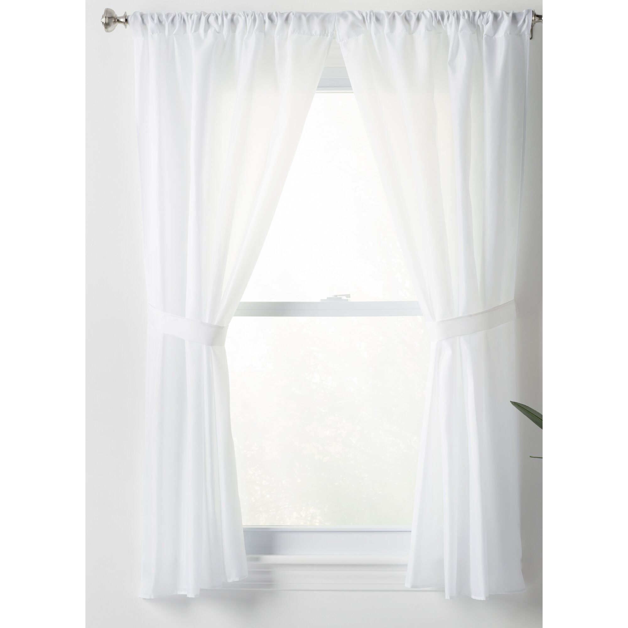 Bathroom sheer curtains
